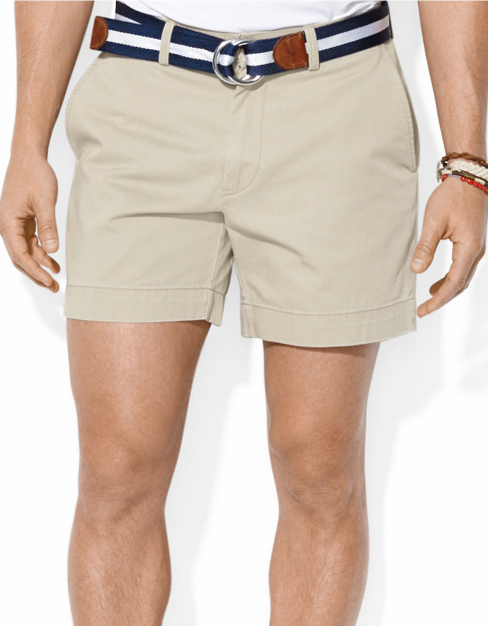 Polo Ralph Lauren Classic-Fit Flat-Front Chino Shorts in