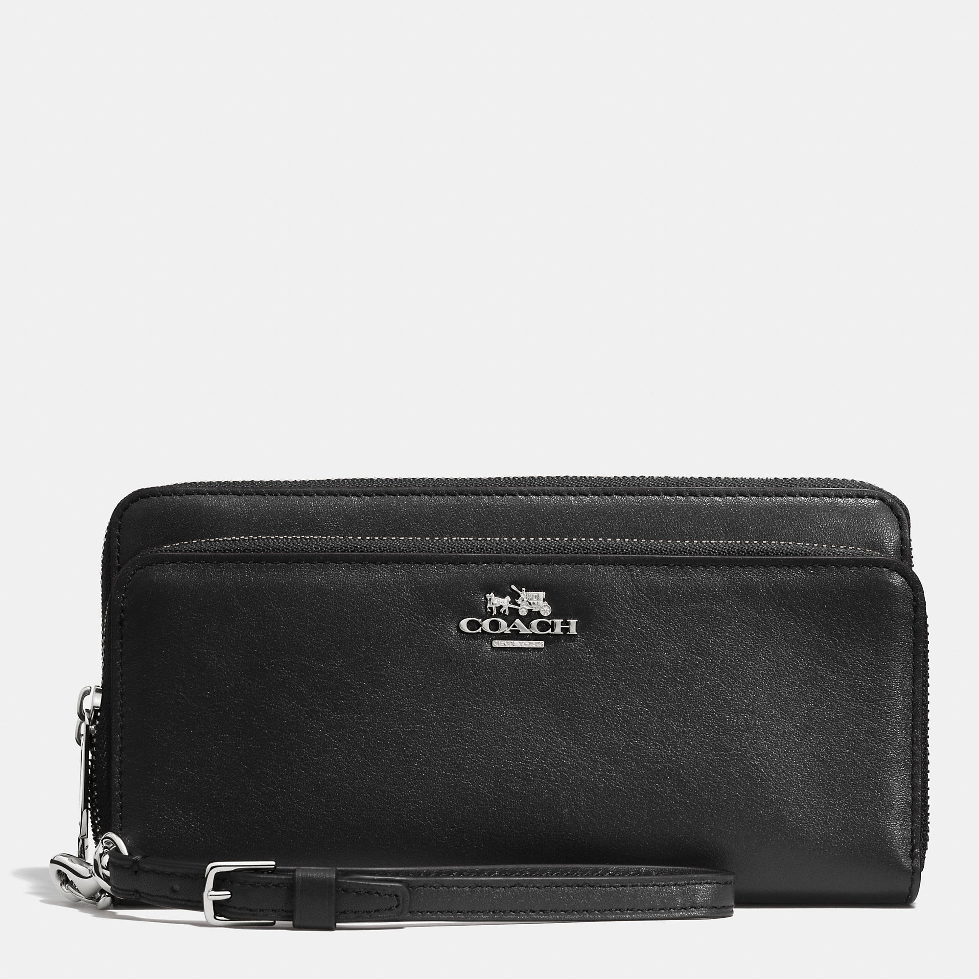 Lyst Coach Double Accordion Zip Wallet In Leather In
