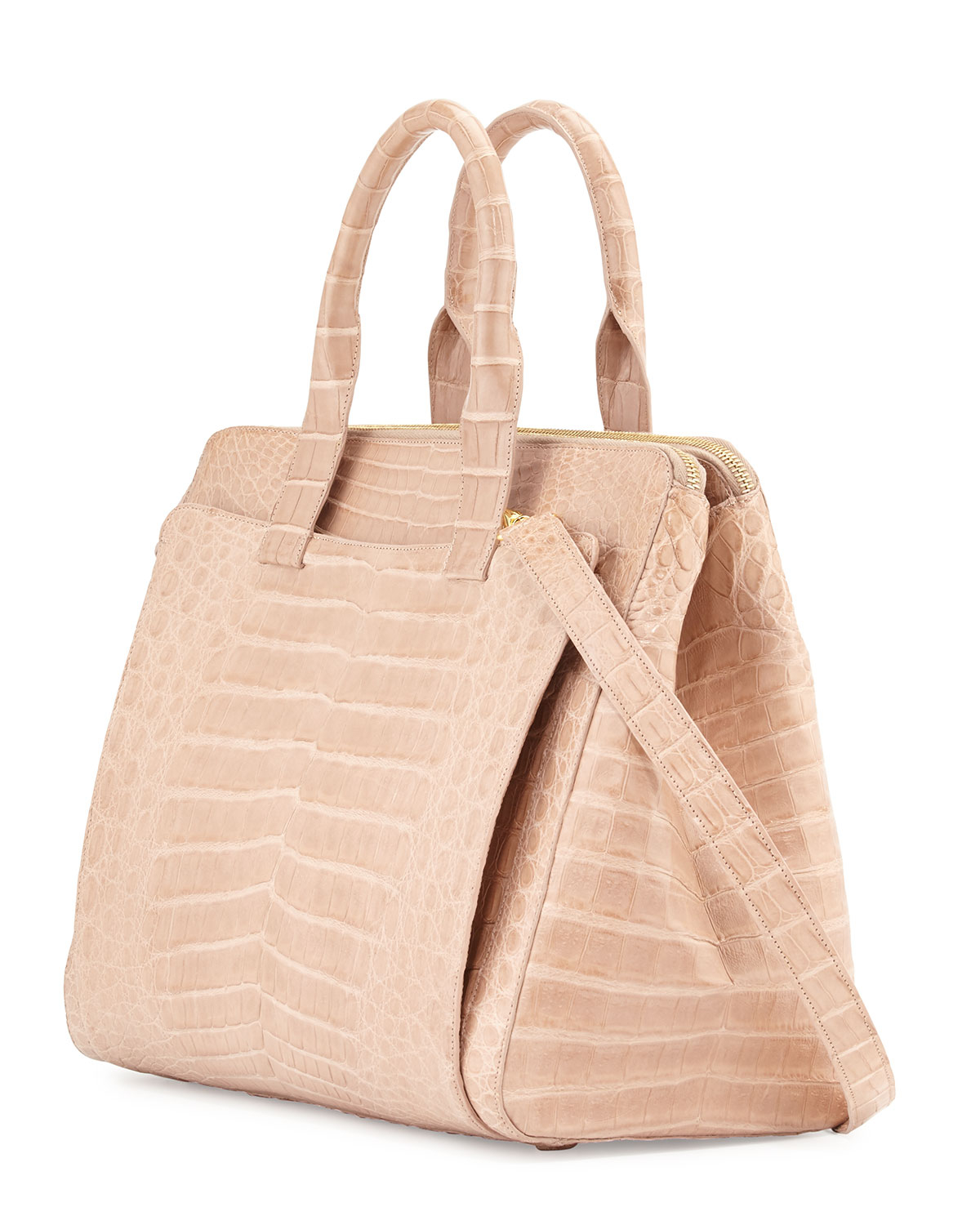Nancy gonzalez large crocodile tote bag in natural lyst for Nancy gonzalez crocodile tote