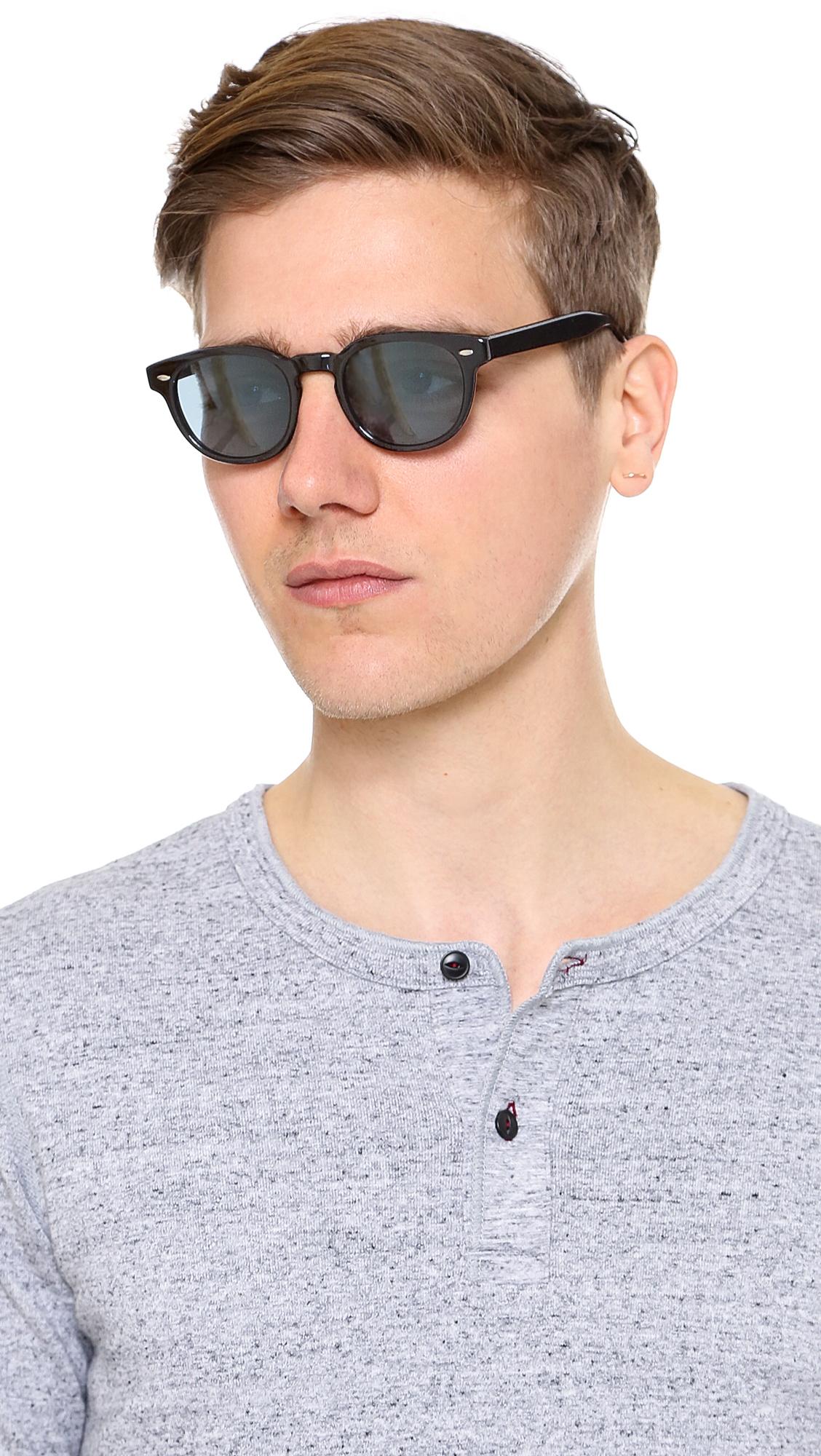 8d8778cdf50 Oliver Peoples Sheldrake Sunglasses in Black for Men - Lyst