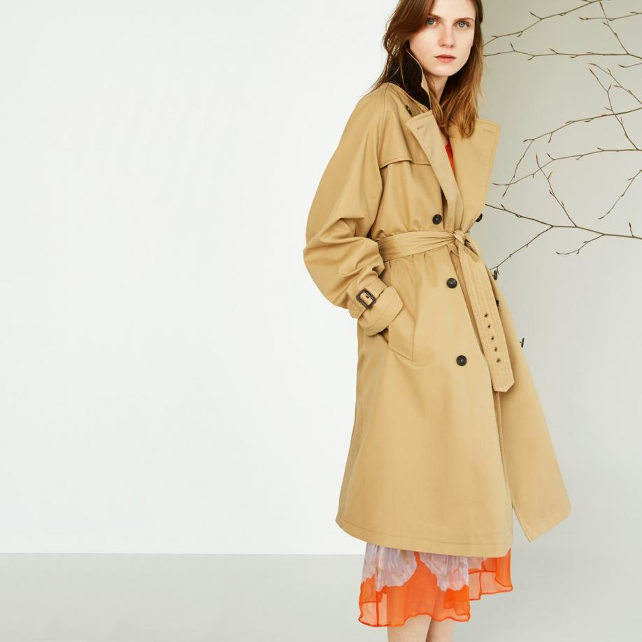Paul smith Women&39s Camel Trench Coat With Checked Wool Lining in