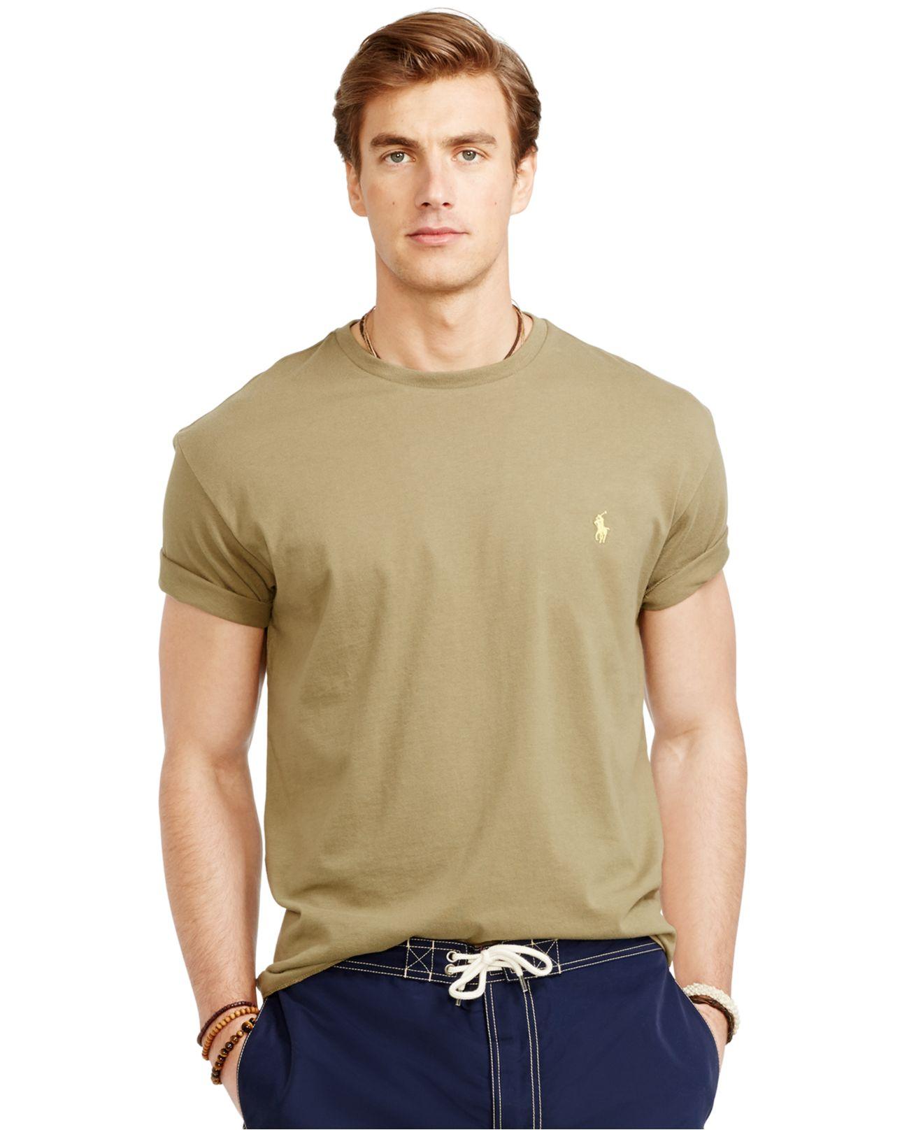 4bc22ee4865f28 Lyst - Polo Ralph Lauren Basic Custom-Fit T-Shirt in Green for Men