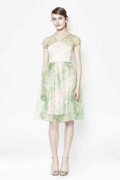 Bloom Mesh Dress in Green
