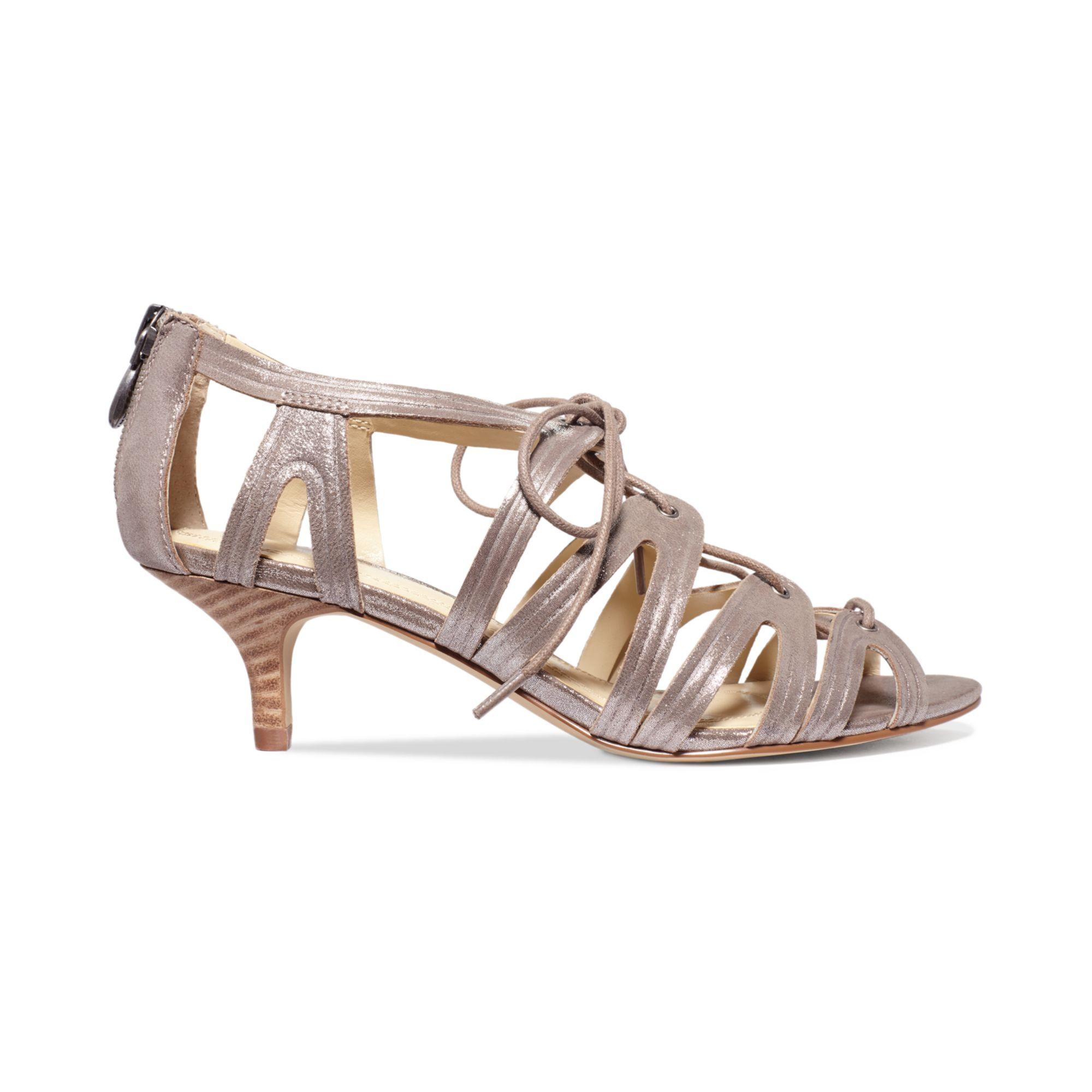 a5692dc97bc11 Lyst - Tahari Womens Darra Kitten Heel Sandals in Natural