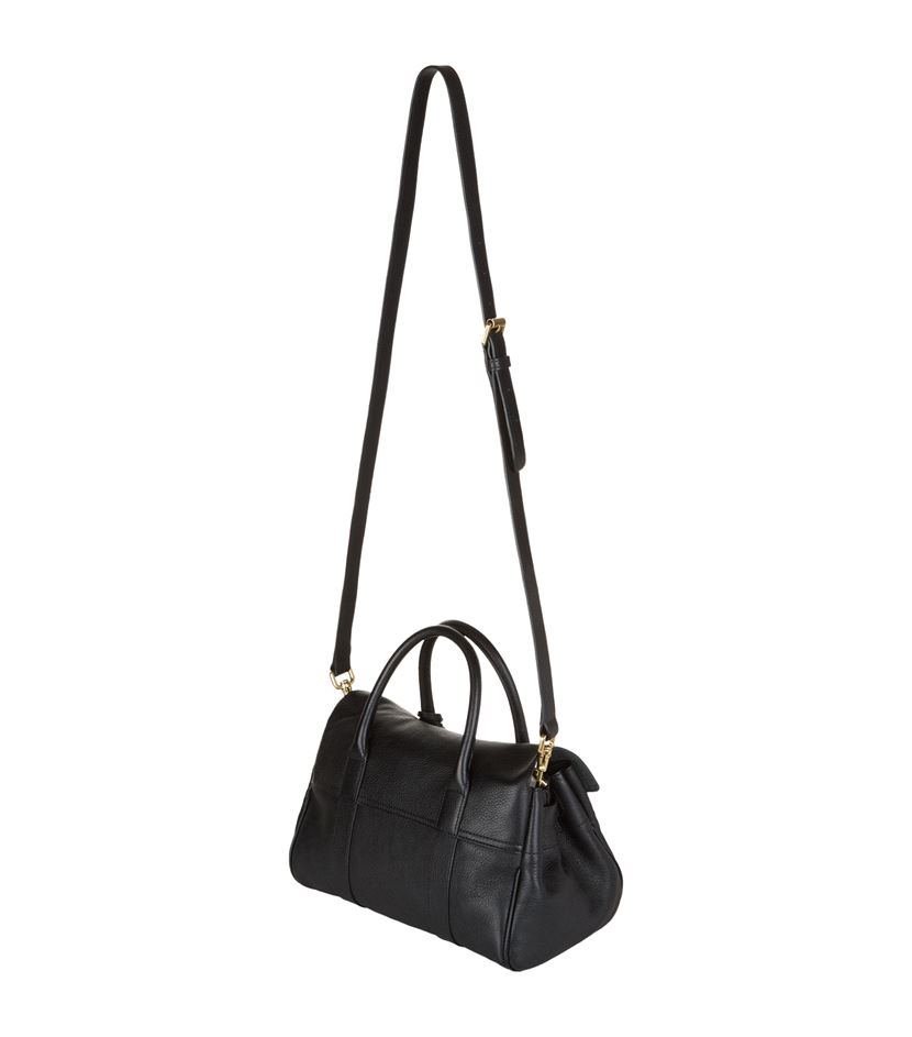 03045b630e86 ... sale lyst mulberry small bayswater satchel in black ac349 3742e