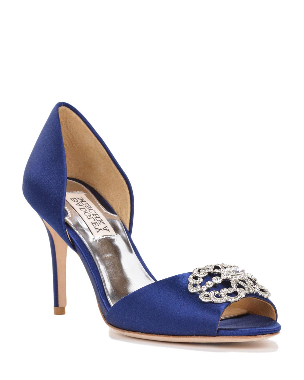 Navy Blue Badgley Mischka Shoes
