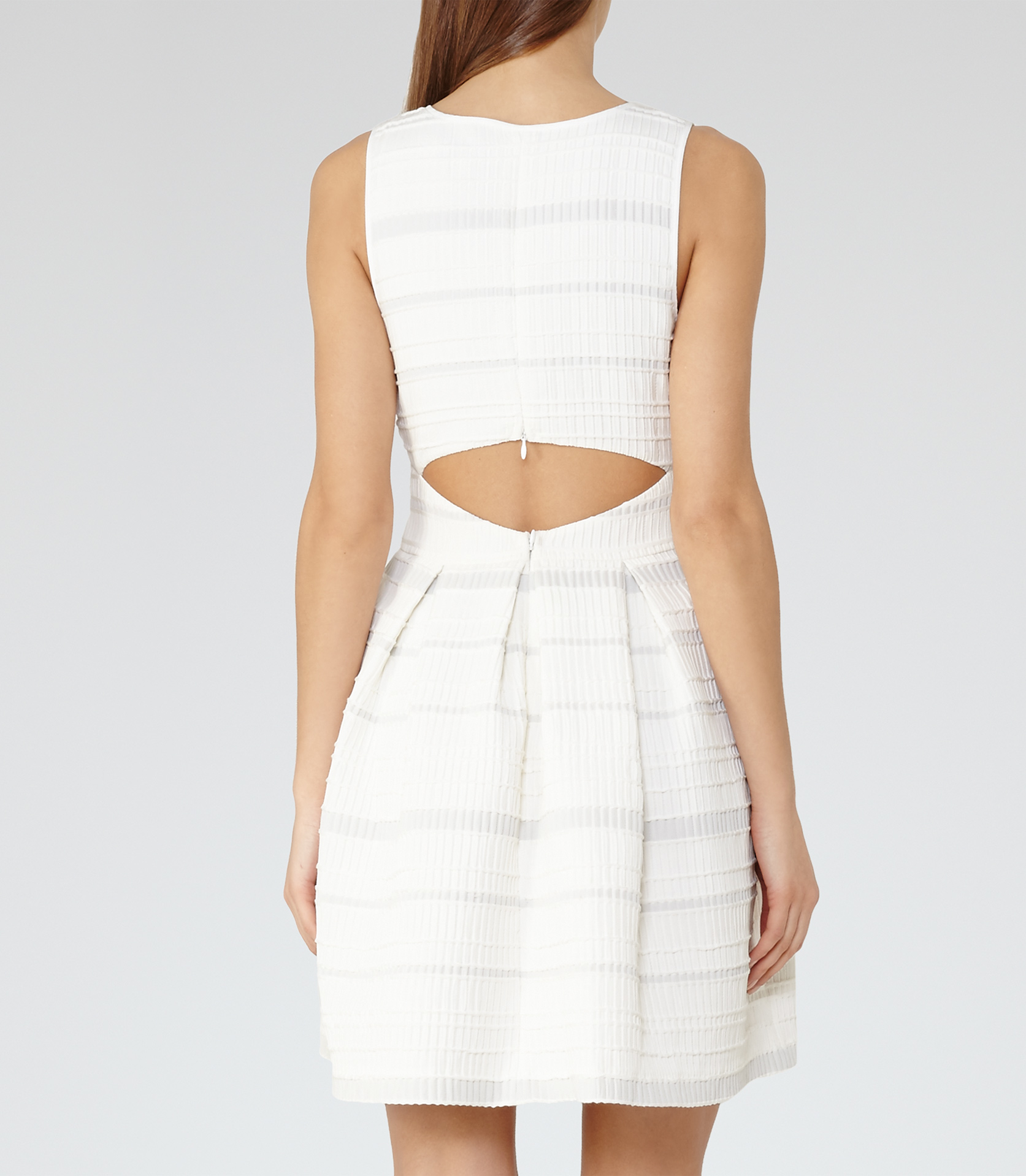 073a045aa59 Reiss Maddox Open-back Dress in White - Lyst