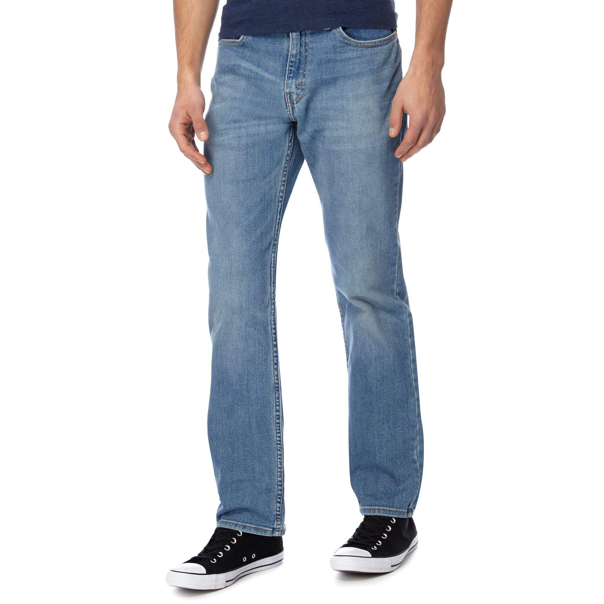 01587db3 Levi's Blue Light Wash '514®' Slim Straight Jeans in Blue for Men - Lyst