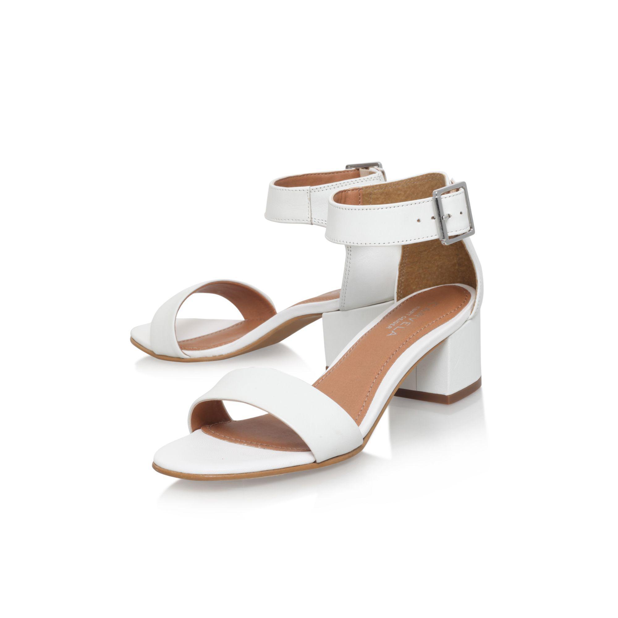 1a32575ba7fd Carvela Kurt Geiger - White  shadow  High Heel Sandals - Lyst. View  fullscreen