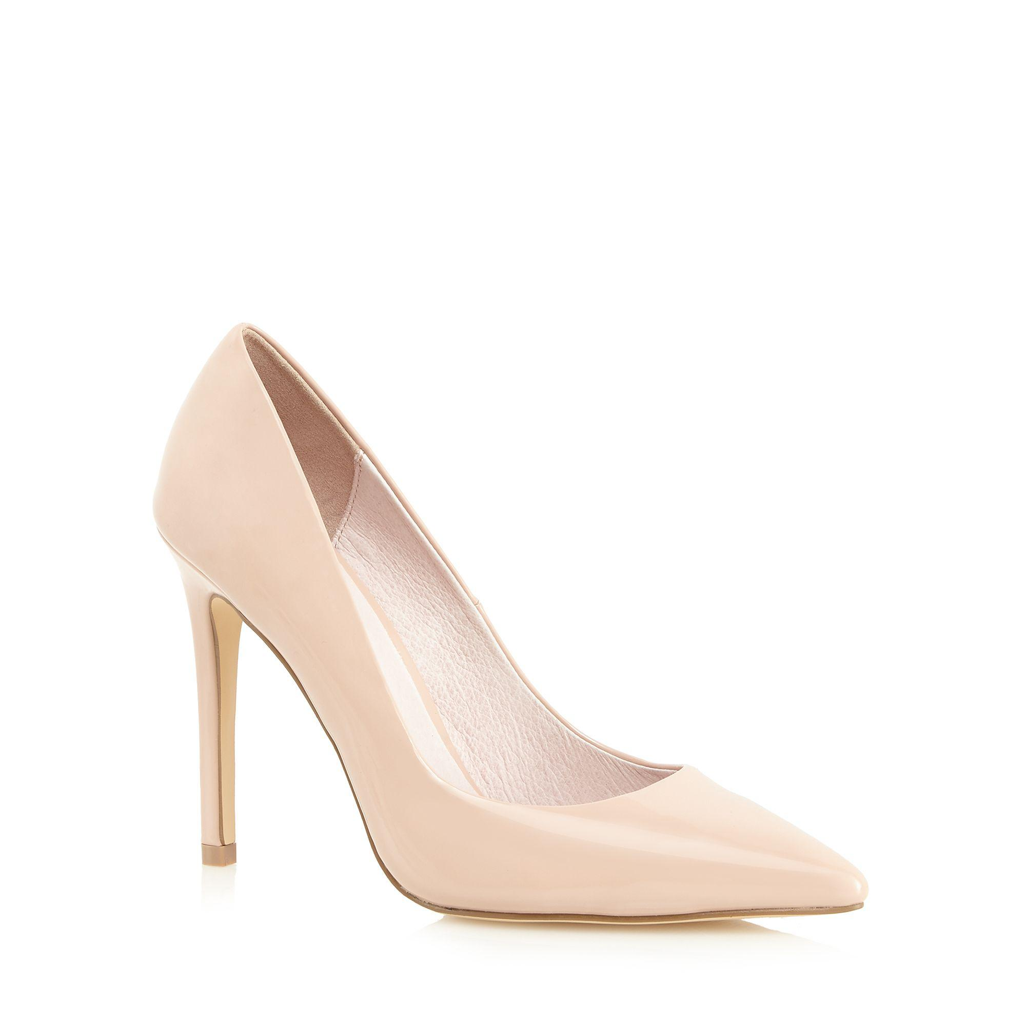 Light pink patent 'Chloe' high heel wide fit pointed shoes sale latest collections AONDCMAFO