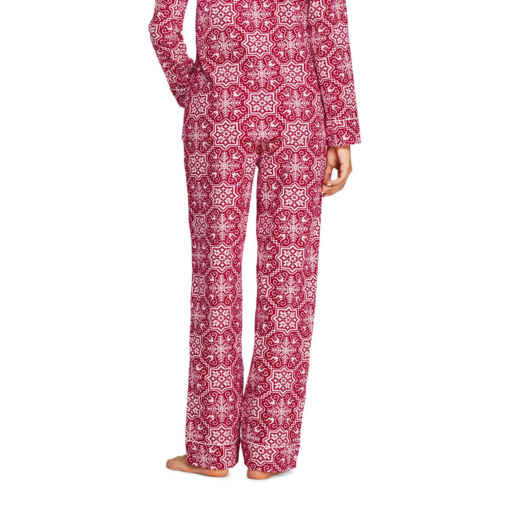 27725eb8ef Lands  End - Red Flannel Patterned Pyjama Bottoms - Lyst. View fullscreen