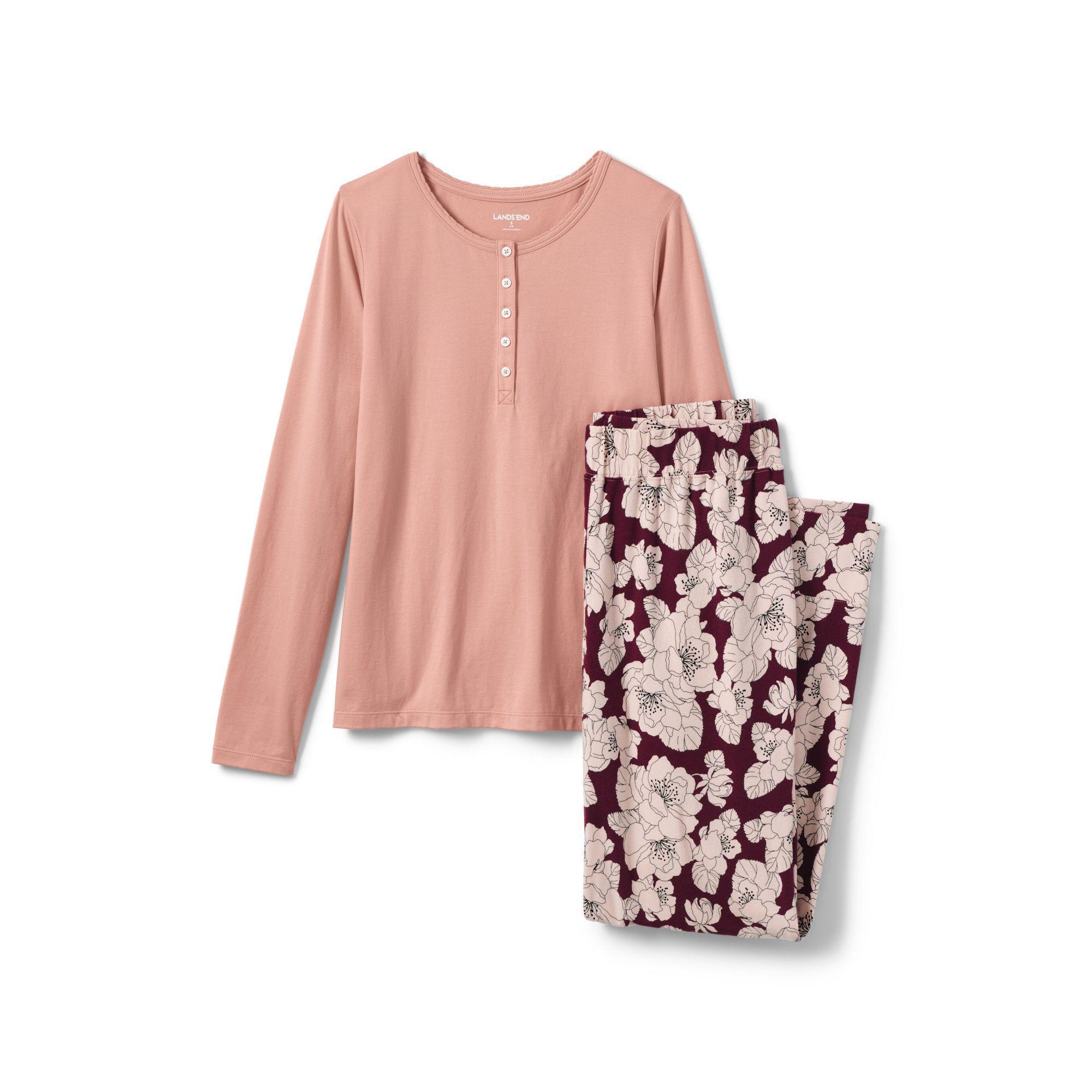 3677c8ae64 Lands  End Multi Womens Cotton Modal Pyjama Set - Lyst