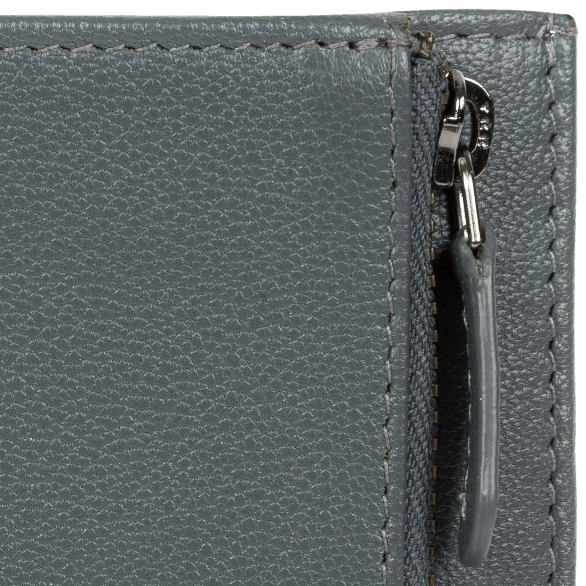 588b568475f6 Cultured London Gunmetal  wilson  Bi-fold Handmade Leather Wallet in ...