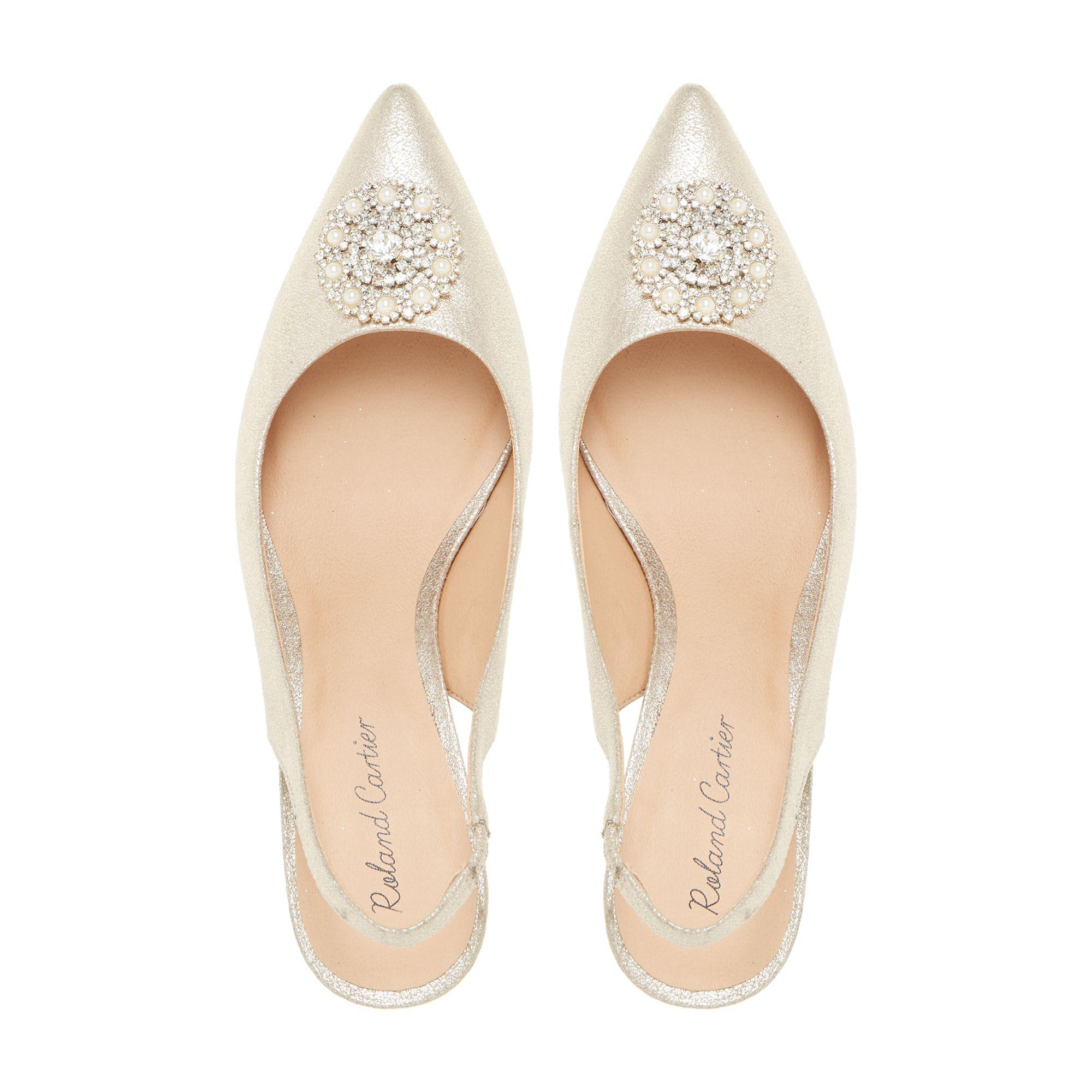 58ecd36d5f ... 'dolcie' Embellished Slingback Court Shoes - Lyst. View fullscreen