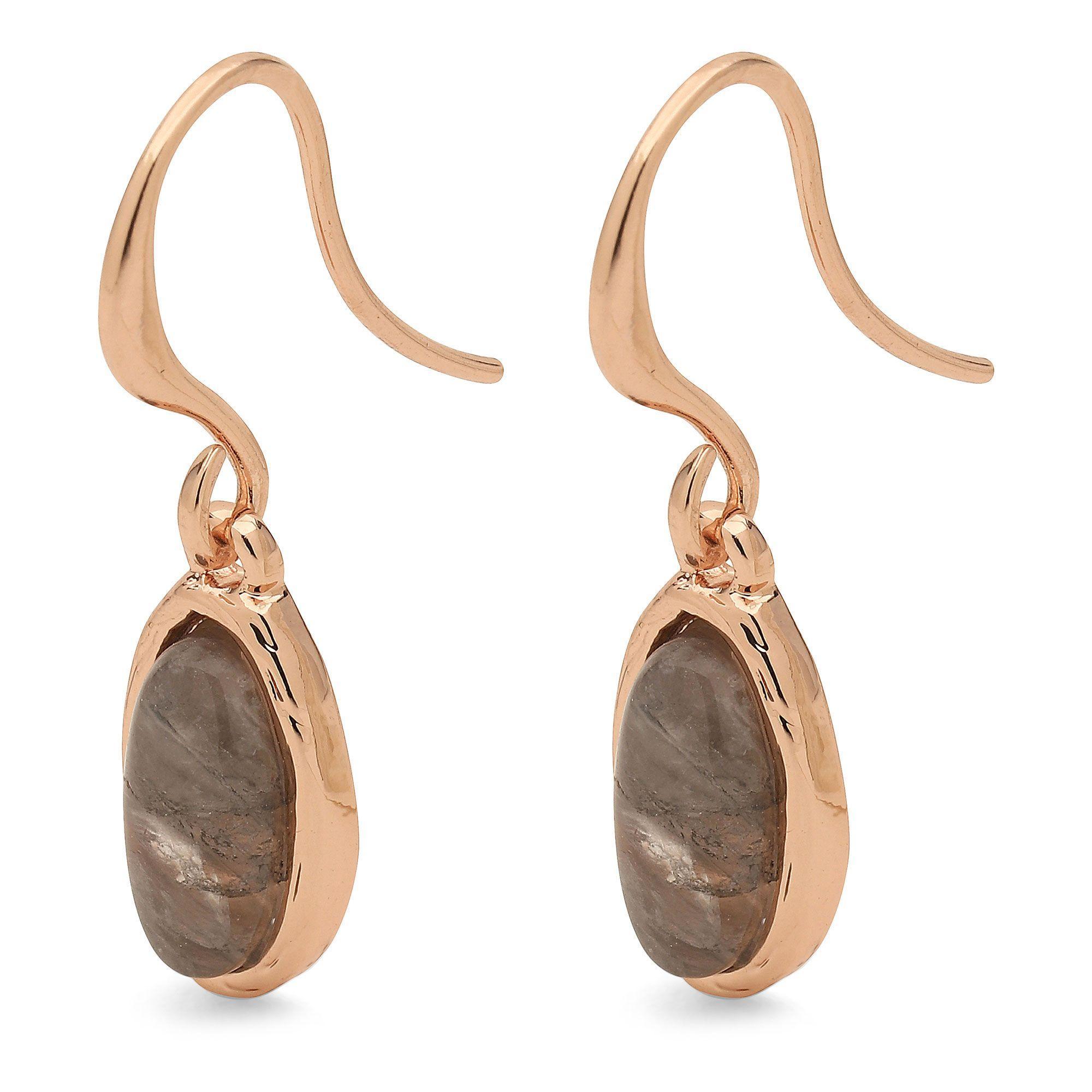 cb3739b24 Pilgrim Grey Rose Gold Plated 'wendell' Drop Earrings in Metallic - Lyst