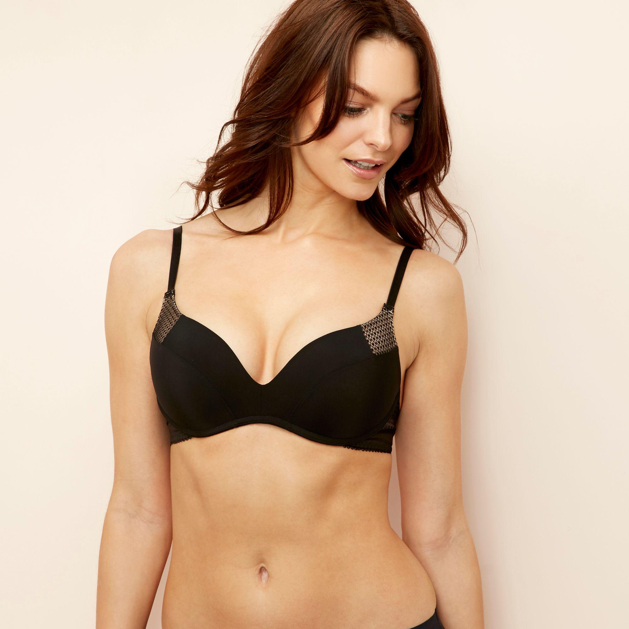12d3e79d50117 Wonderbra Black Microfibre  ultimate  Non-wired Padded Push-up T ...