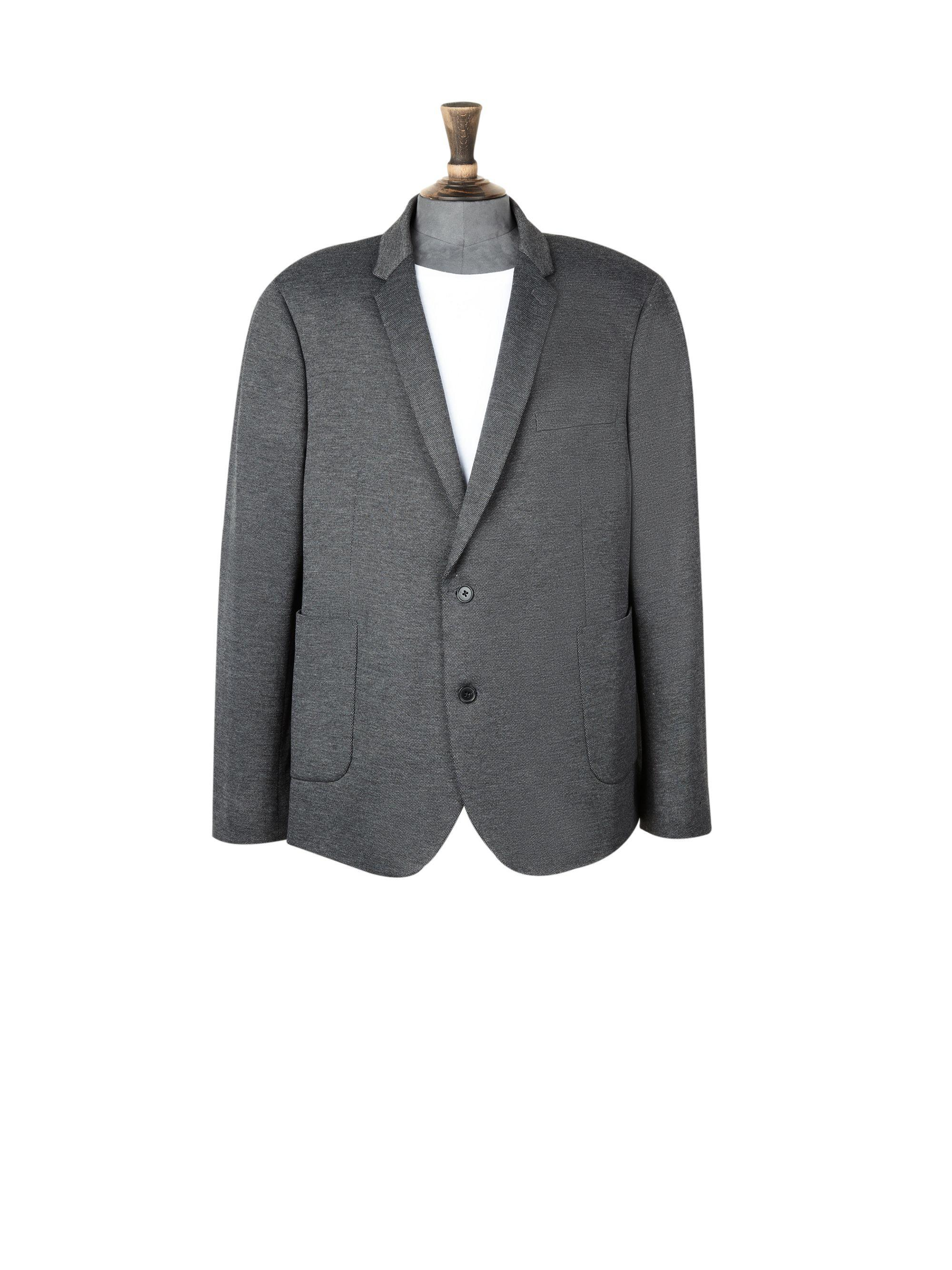 6a419a642cd Burton Big & Tall Black Pique Jersey Blazer in Gray for Men - Lyst