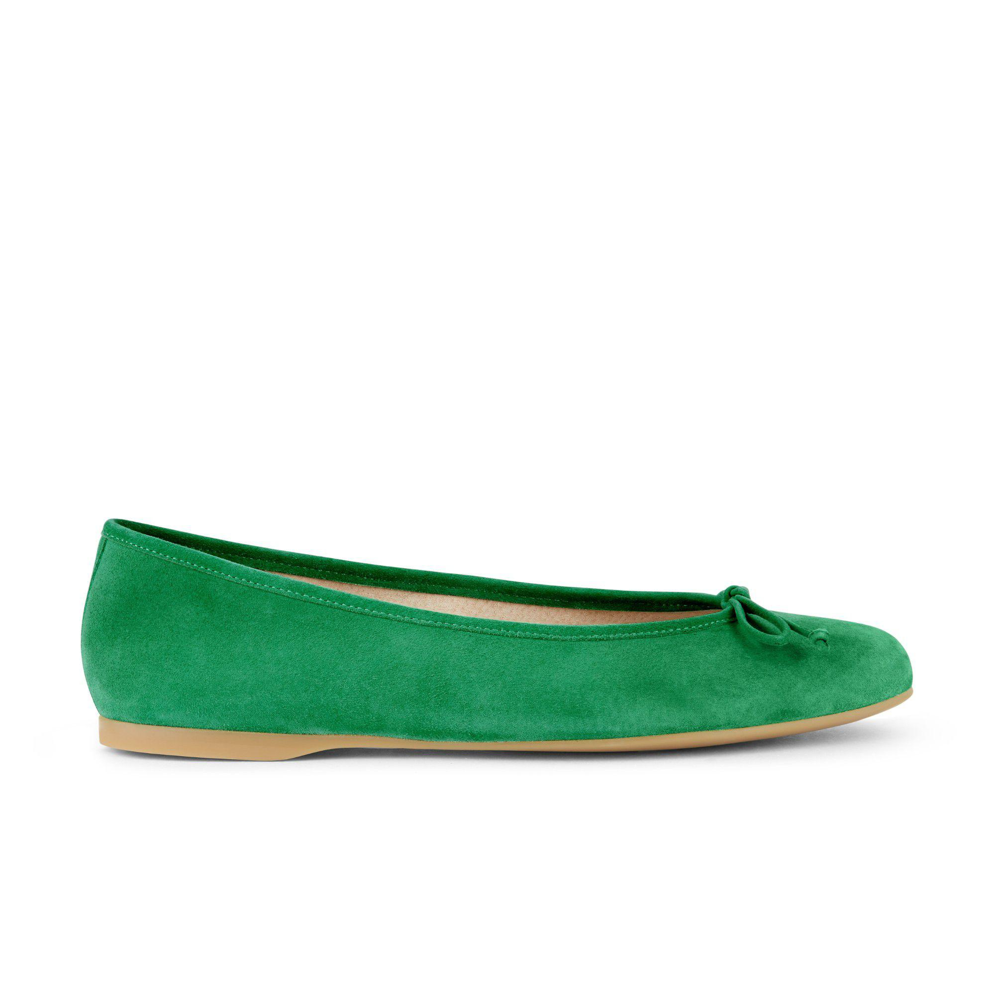 bde887fdfe9 Hobbs Bright Green  prior  Ballerina Shoes in Green - Lyst