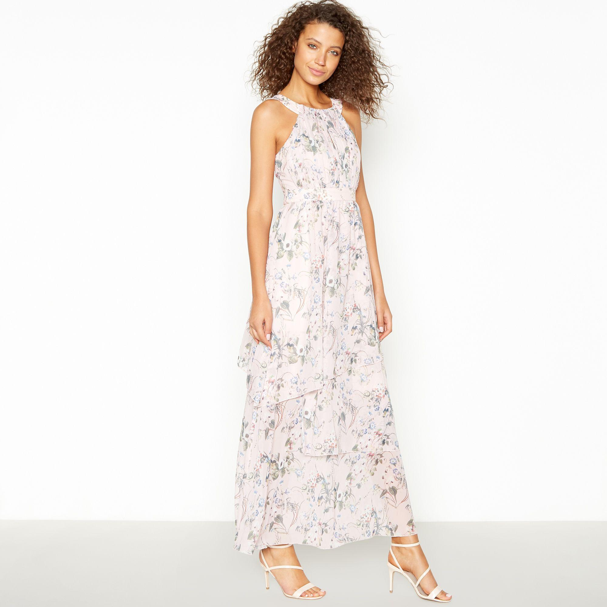 9b8f1c4c067e Vila. Women's Multicoloured Floral Chiffon 'vinola' Tiered Maxi Dress