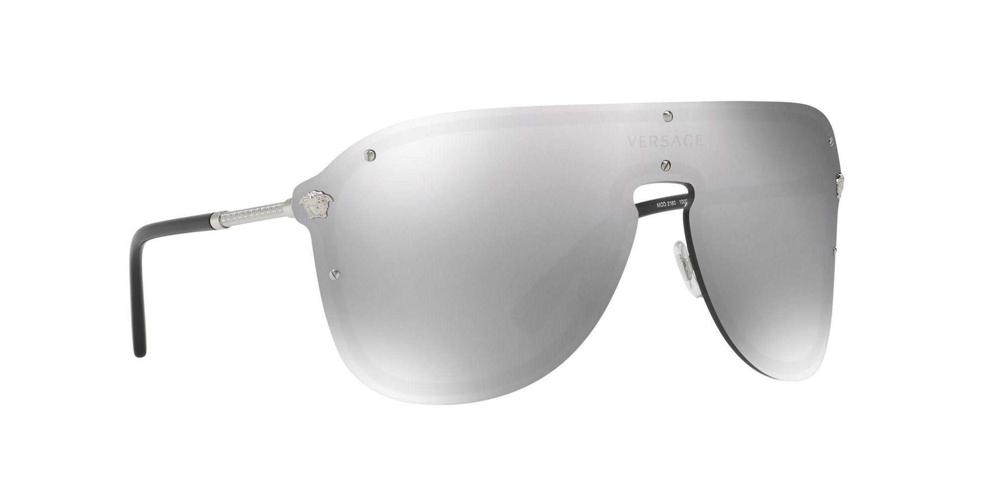 c653756ed7de Versace Silver Ve2180 Pilot Sunglasses in Metallic - Lyst