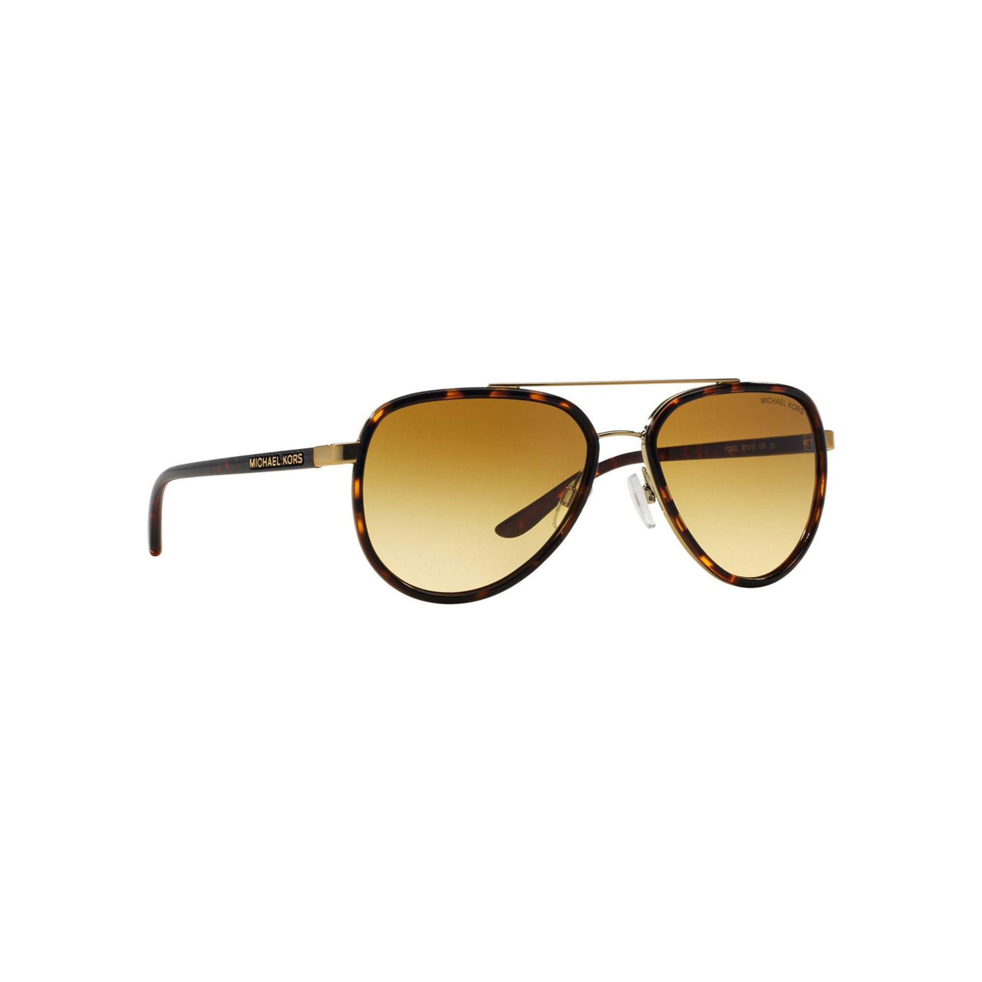 142ea25d38876 Michael Kors - Brown Mk5006 Aviator Sunglasses - Lyst. View fullscreen