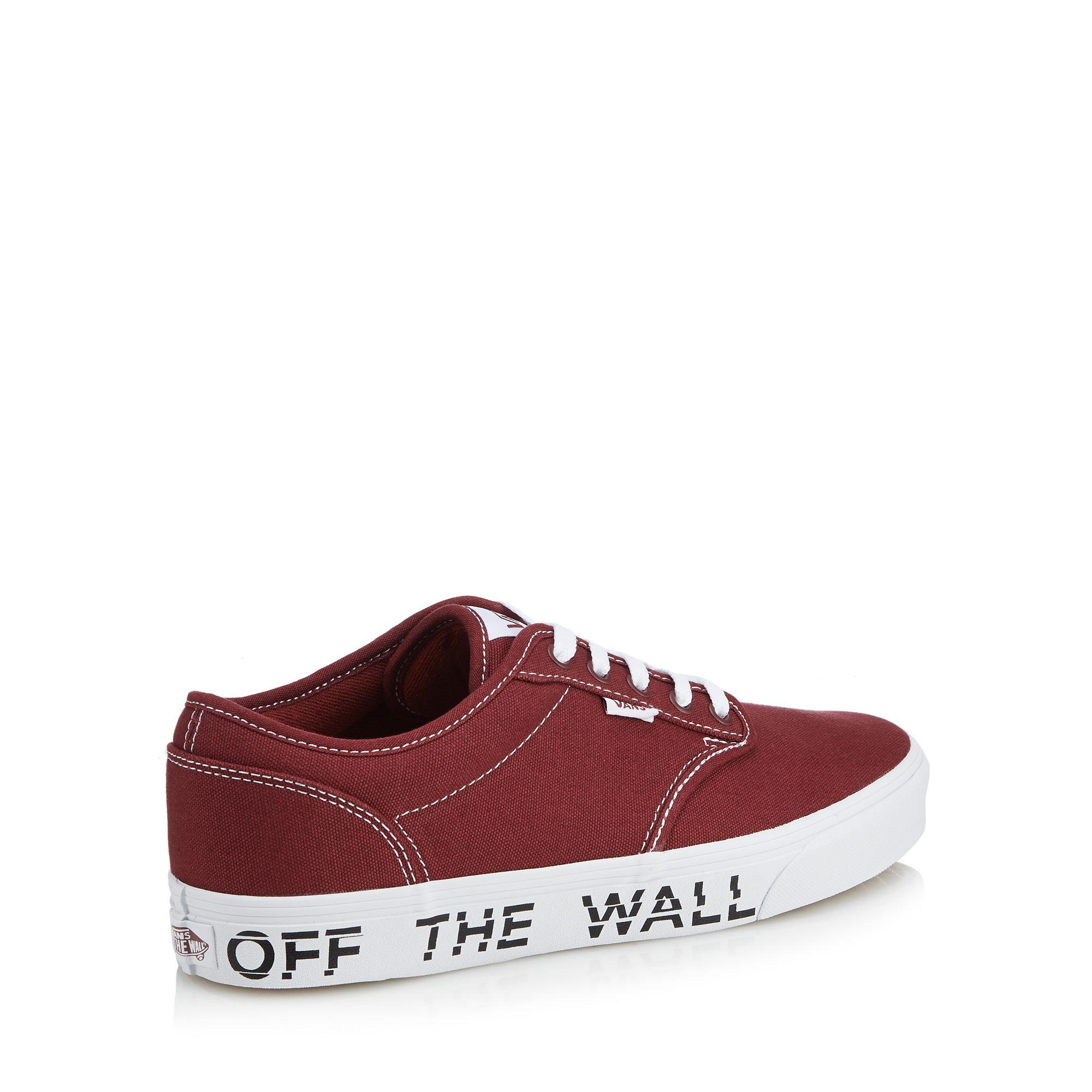 2206ab516028 Vans - Red Canvas  atwood  Printed Sole Trainers for Men - Lyst. View  fullscreen