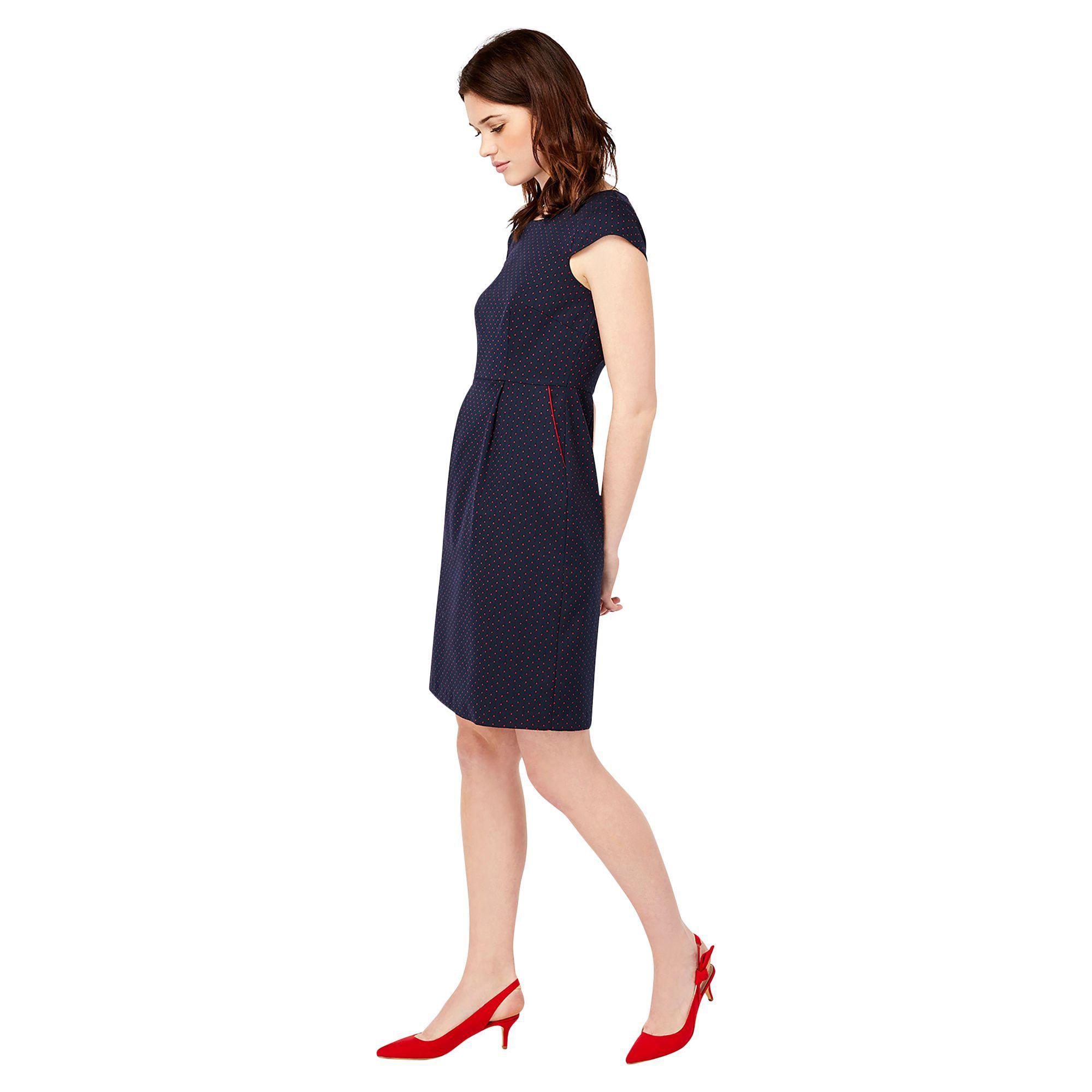 ef3342cbbb93 Monsoon Blue 'cecile' Jacquard Dress in Blue - Lyst
