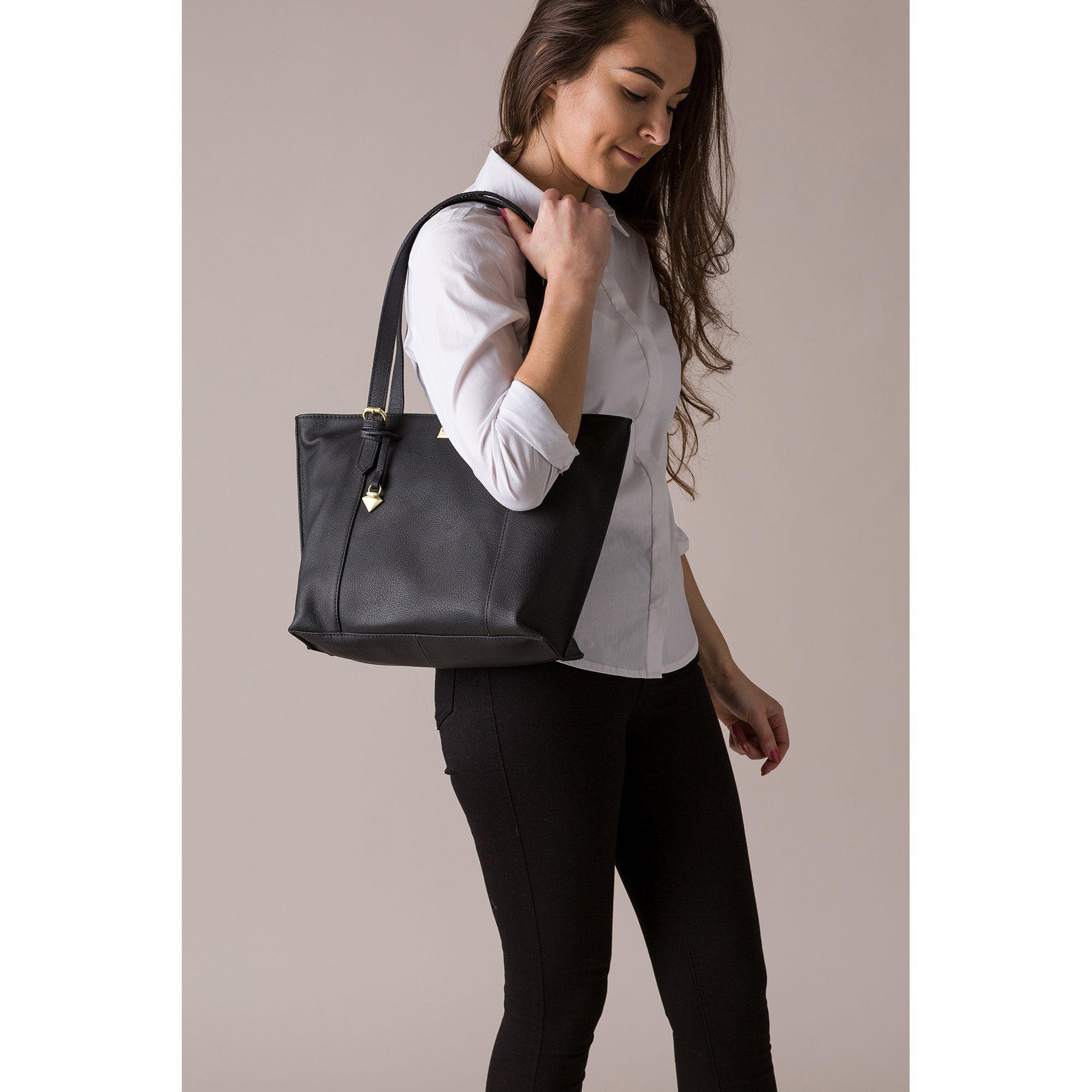 0130bb58773f Cultured London - Black  penny  Leather Tote Bag - Lyst. View fullscreen