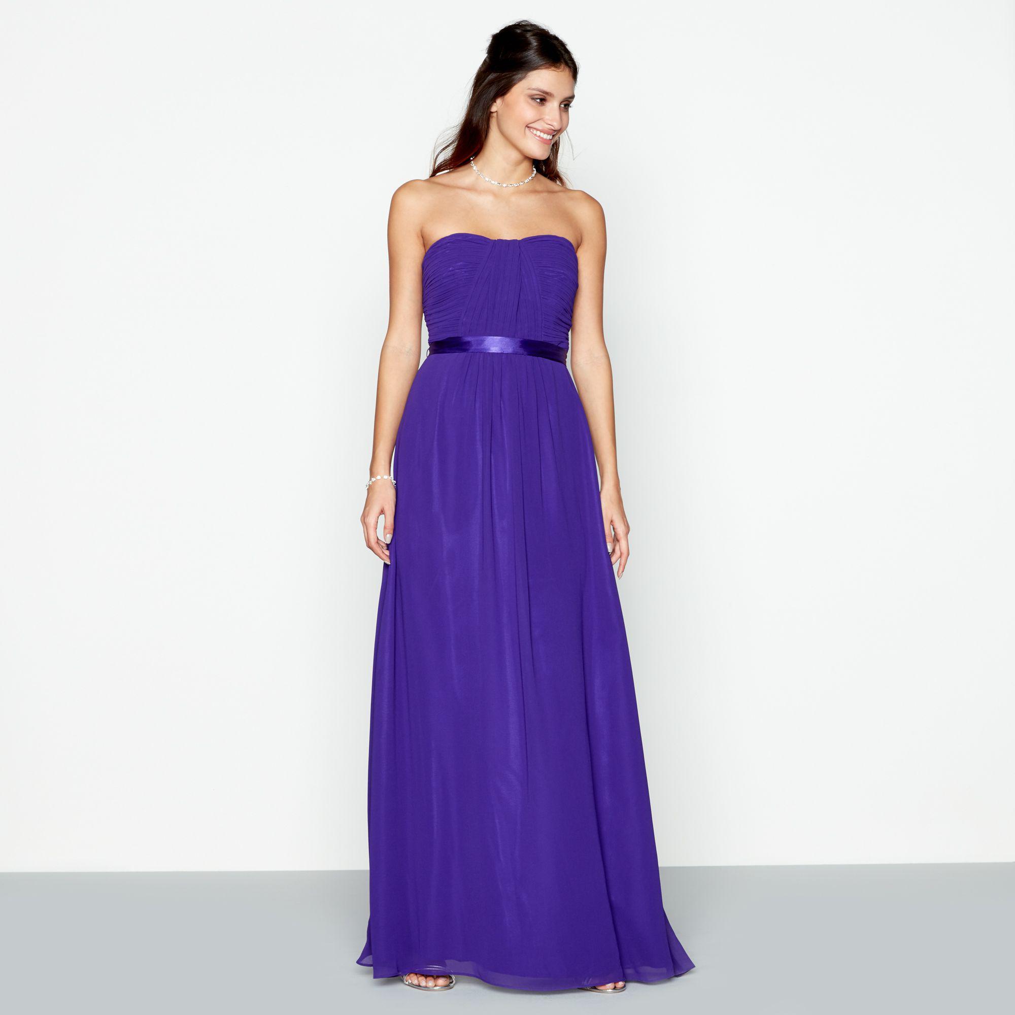 d0b4f15165f Début Purple 'sophia' Bandeau Plus Size Bridesmaid Dress in Purple ...