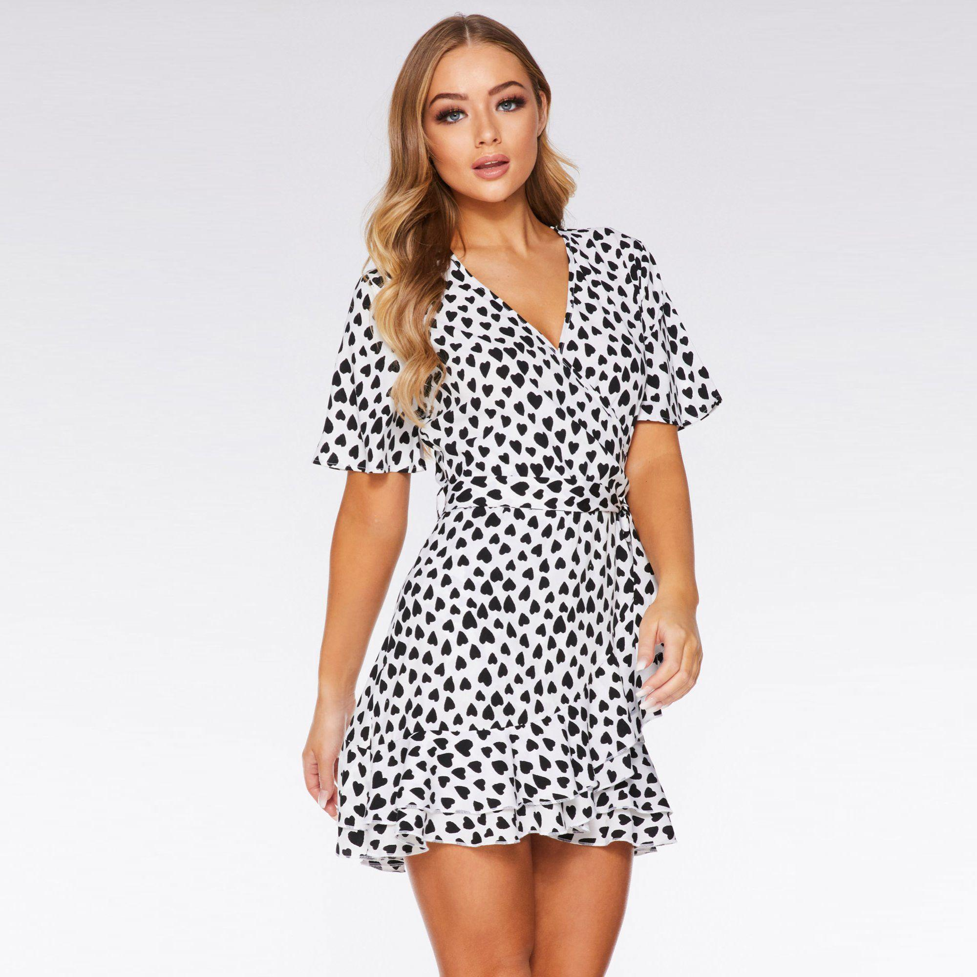 0890ffd5d Black And White Summer Wrap Dress