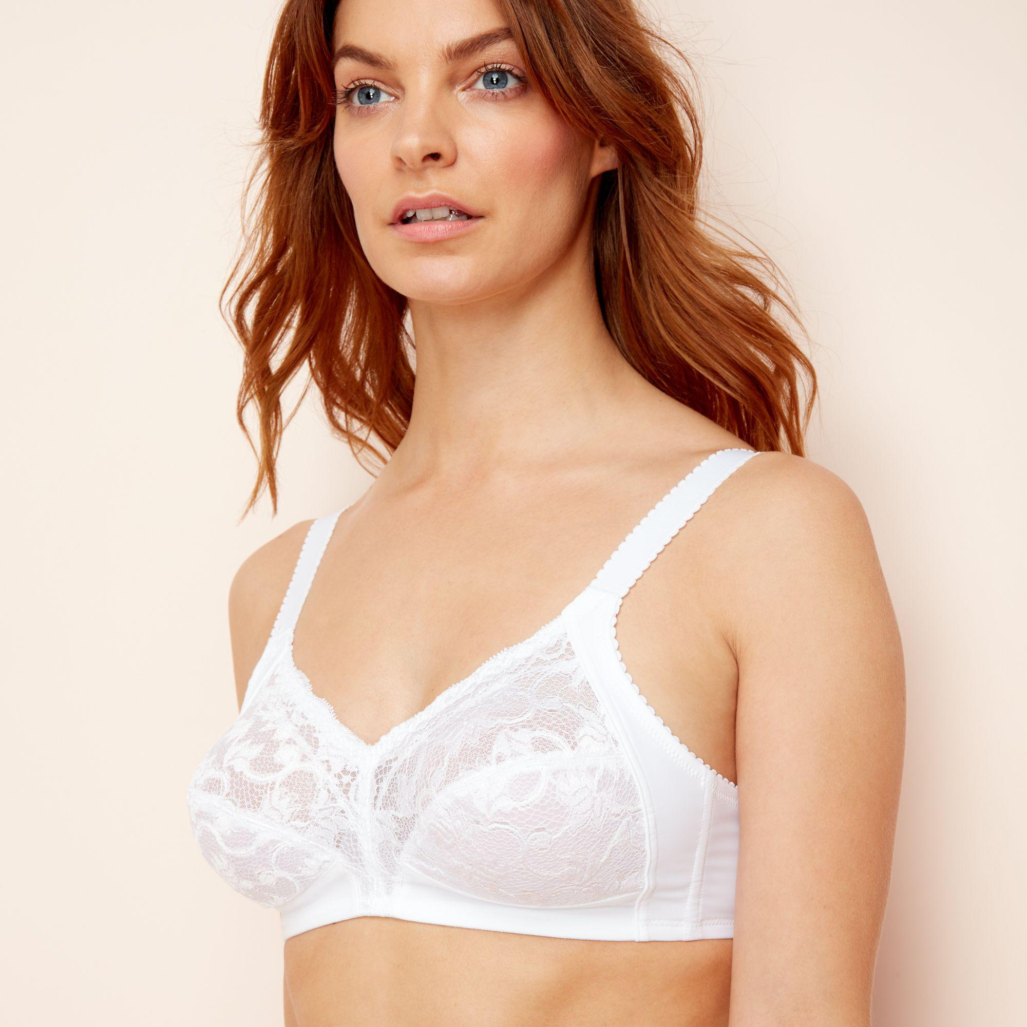 9ab39355dbc Triumph - White Lace  delicate Doreen  Non-wired Non-padded Full Cup. View  fullscreen