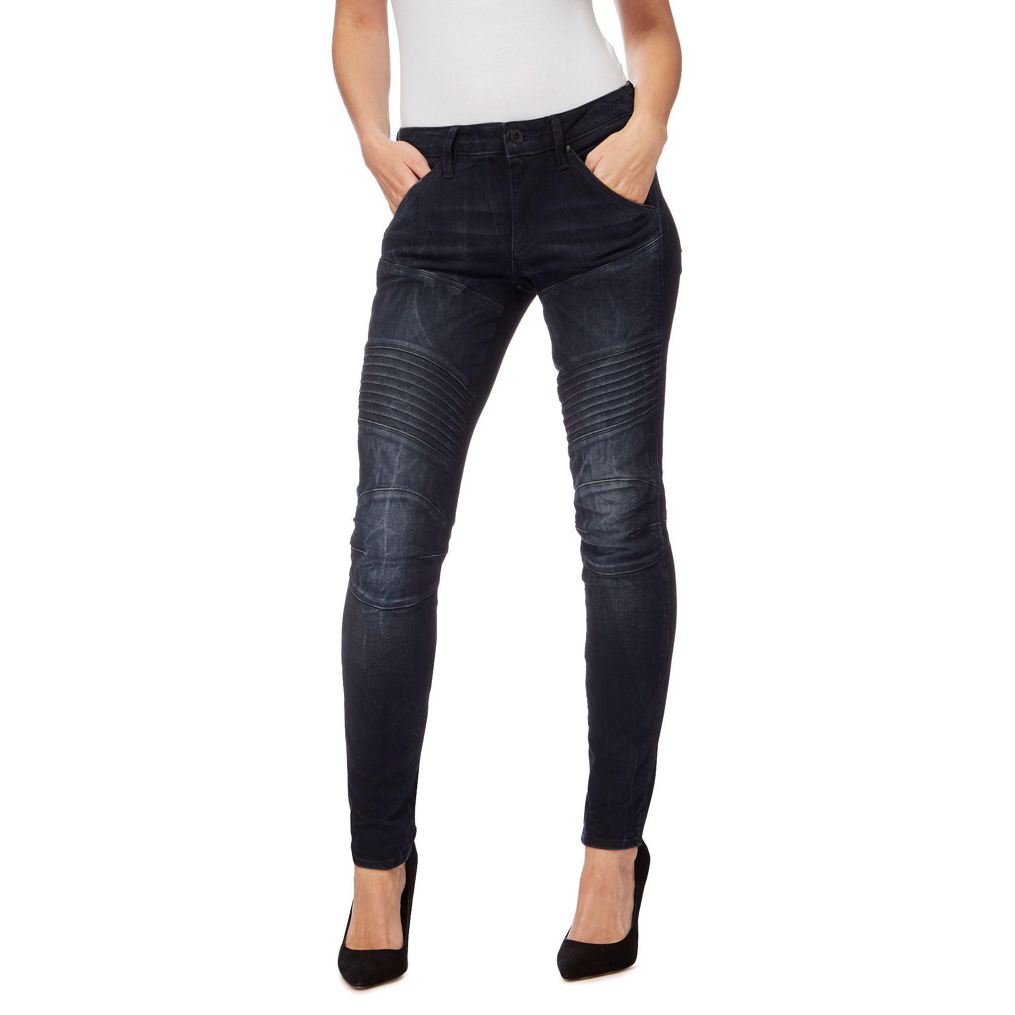 Jeans Raw Lyst 'elwood' Blue Star Navy Dark In G Skinny 5zqFYxw