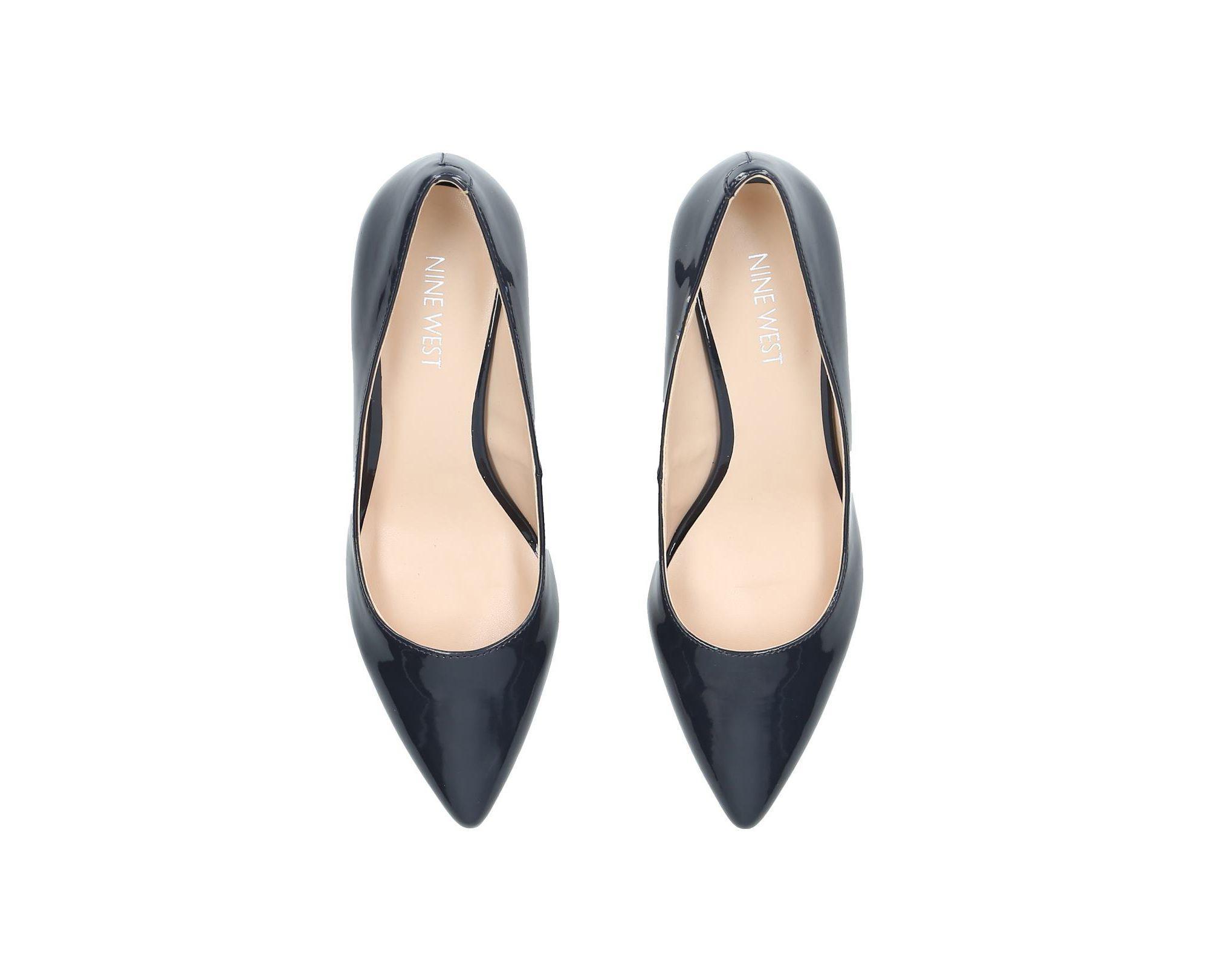 6f5638b4748 Nine West - Blue Navy  flagship 55  Patent Court Shoes - Lyst. View  fullscreen