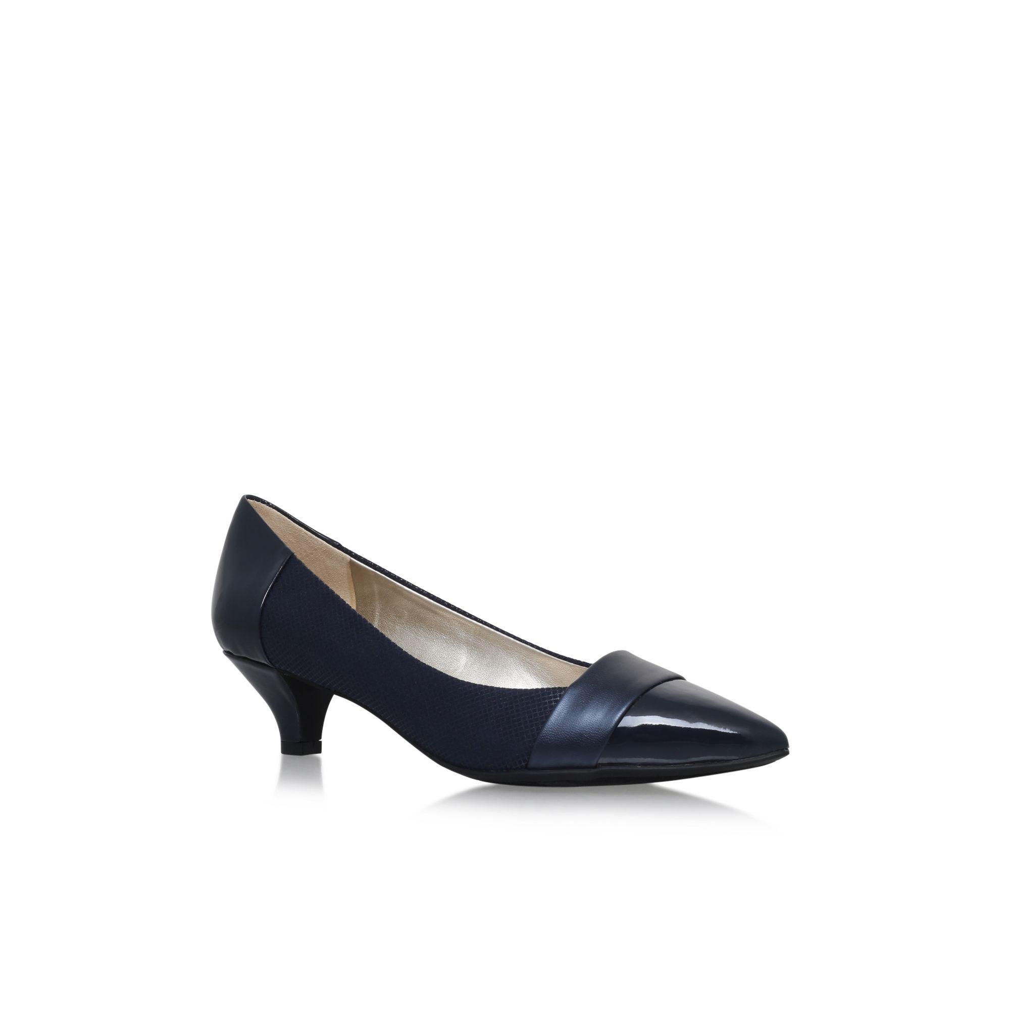 105b08e2ea6c1 Anne Klein Blue 'mckinley' Low Heel Court Shoes in Blue - Lyst anne klein