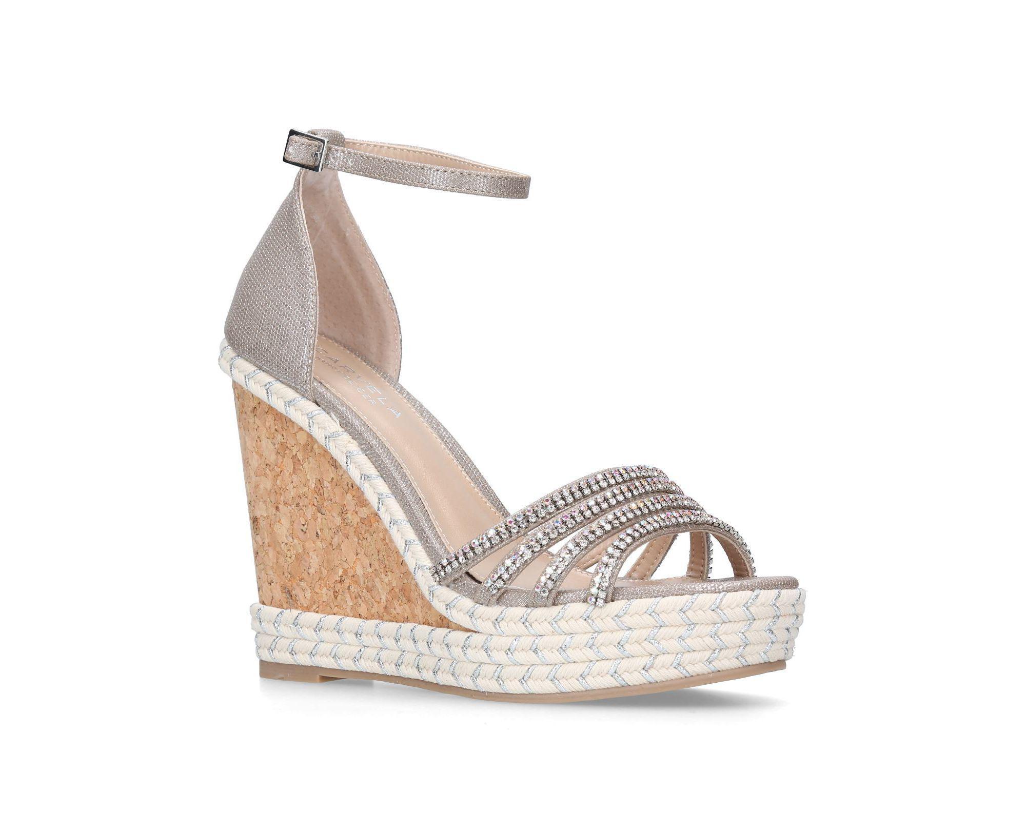 5286655a8ee Carvela Kurt Geiger. Women s Metallic  spruce  High Heel Wedge Sandals