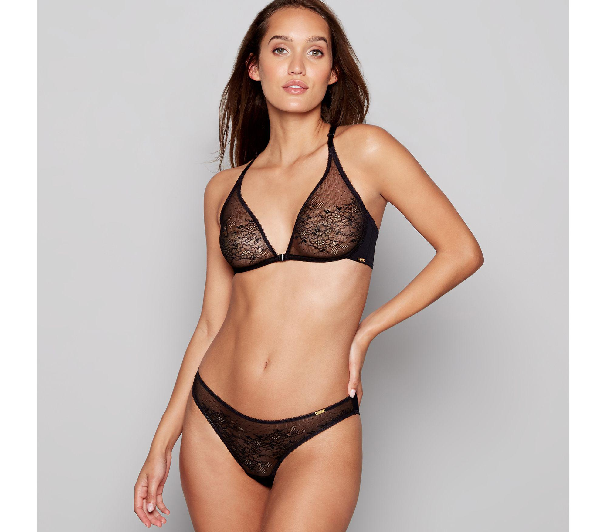 0f737c2f64 Gossard Black Lace Non-wired Non-padded Triangle Bra in Black - Lyst