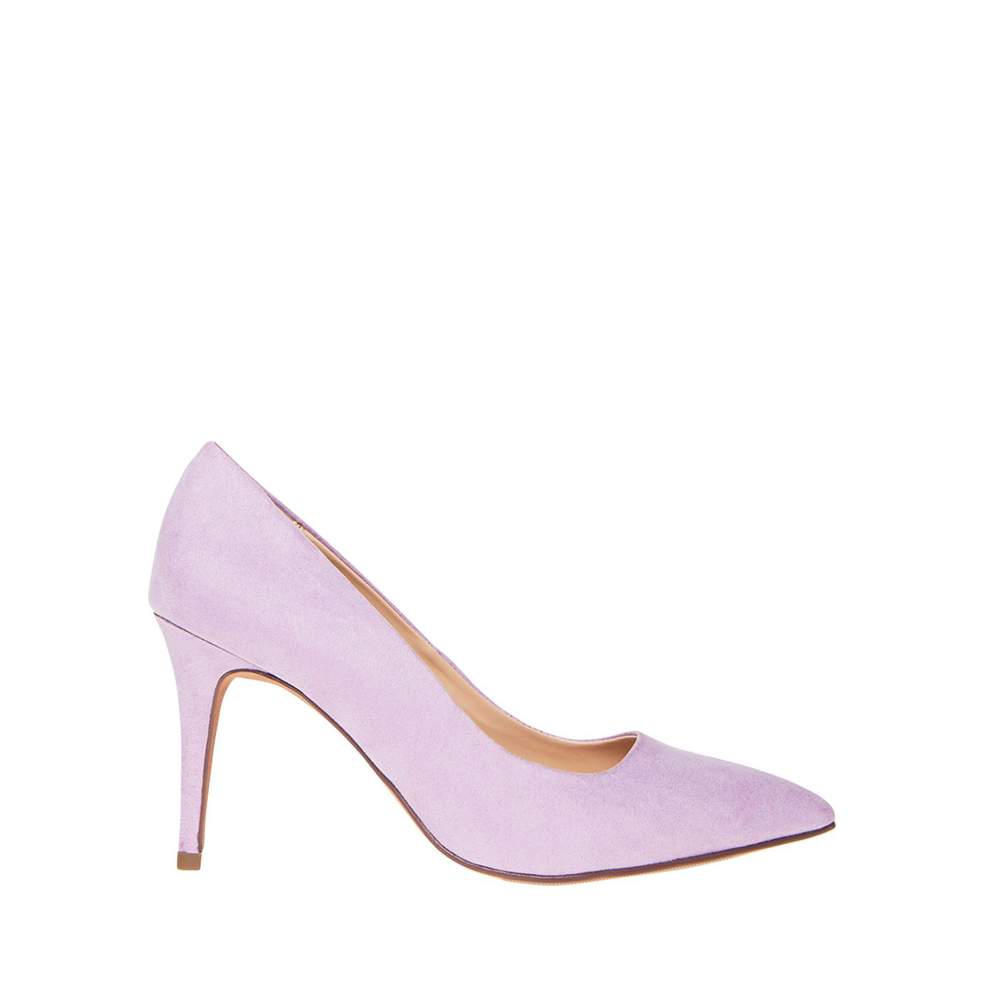 be9cecc0864 Dorothy Perkins Wide Fit Lilac Microfibre Electra Court Shoes in ...