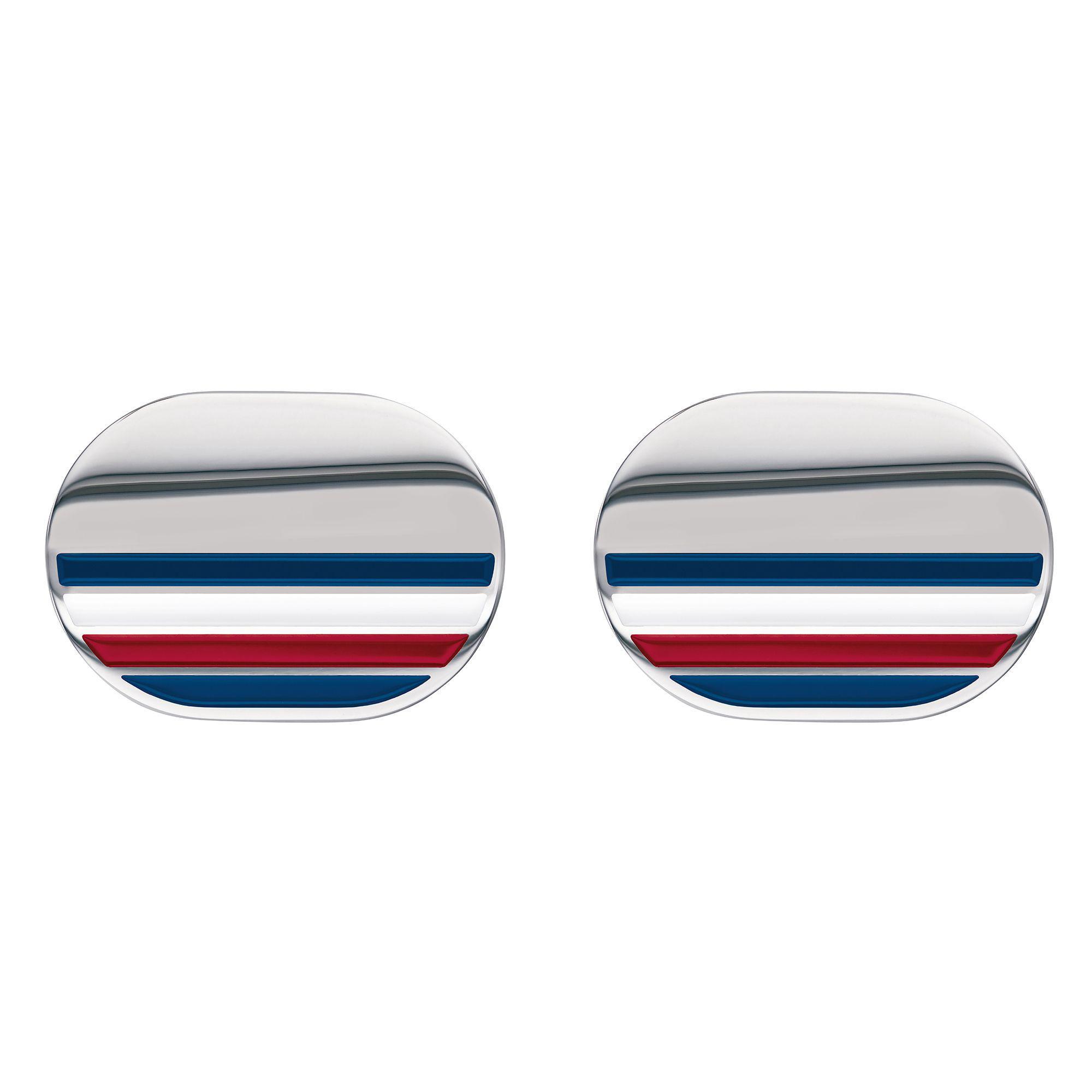 5cc45d3a Tommy Hilfiger Sterling Silver Striped Cufflinks in Metallic for Men ...