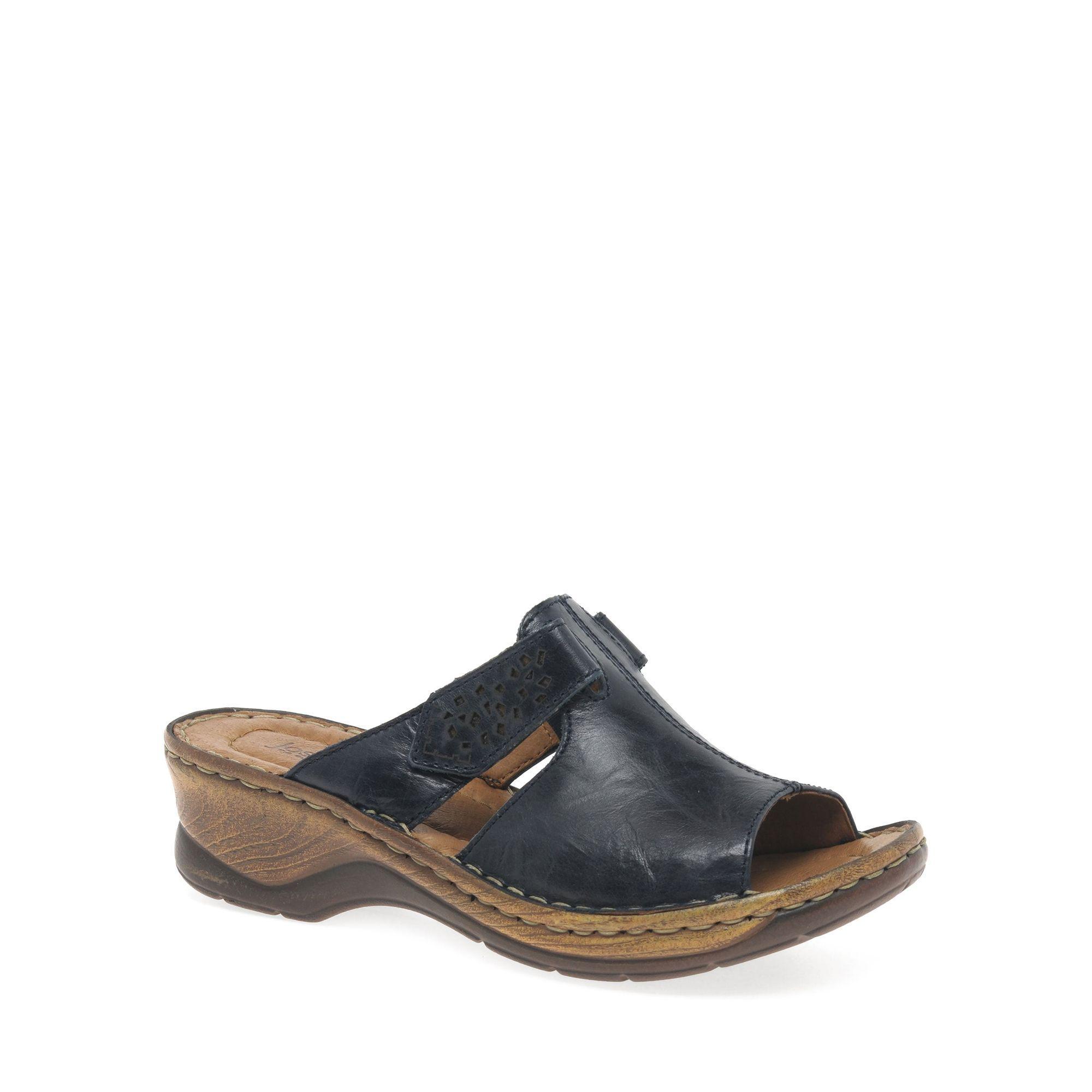Navy 'Catalonia' womens velcro fastening sandals release dates choice sale online qzywMj