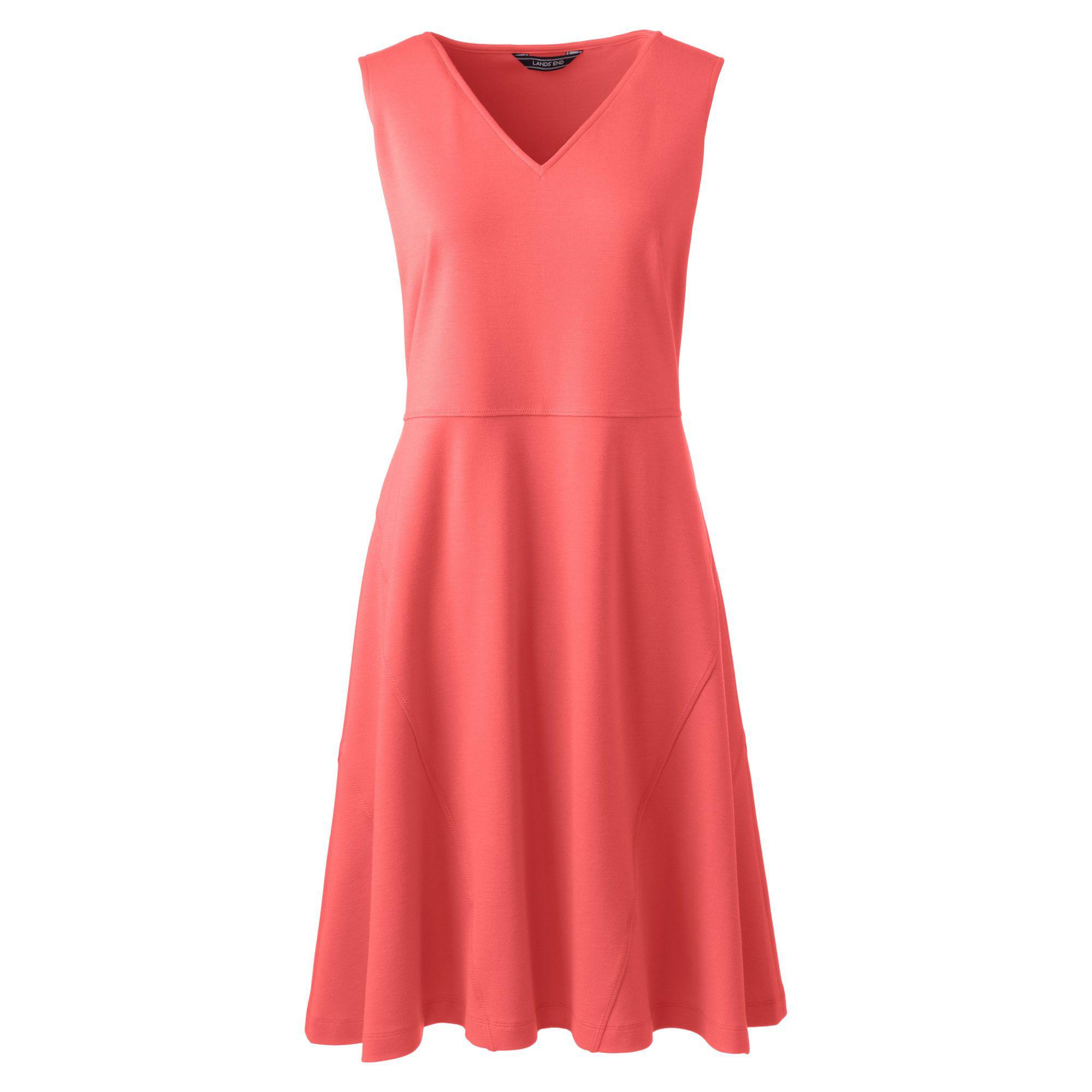 7a574bef9dd Lands  End Pink Womens Sleevesless Ponte Jersey Dress in Pink - Lyst