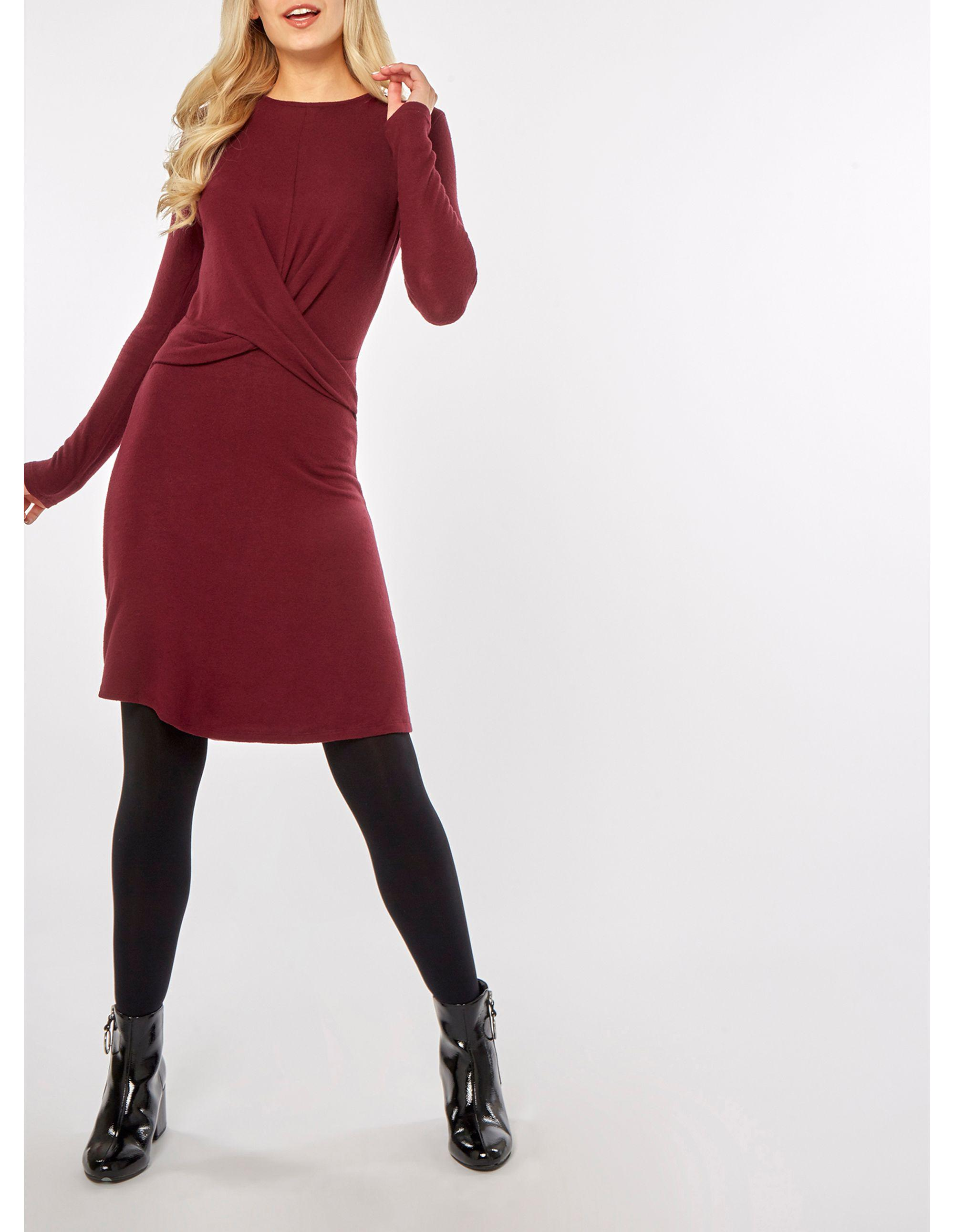 935251c365a5 Dorothy Perkins Berry Twist Front Shift Dress in Red - Lyst