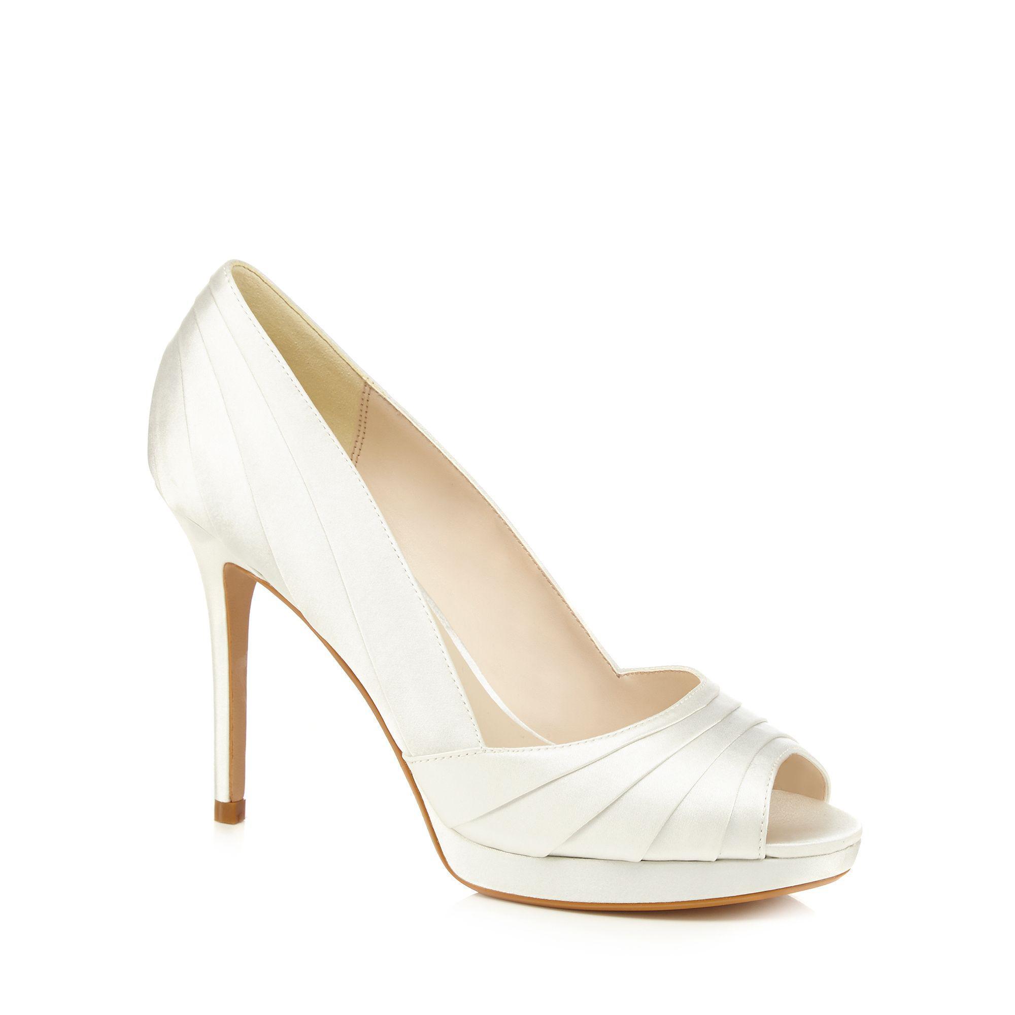 cf7cc45c73b Jenny Packham Ivory Satin  pandora  High Stiletto Heel Peep Toe ...