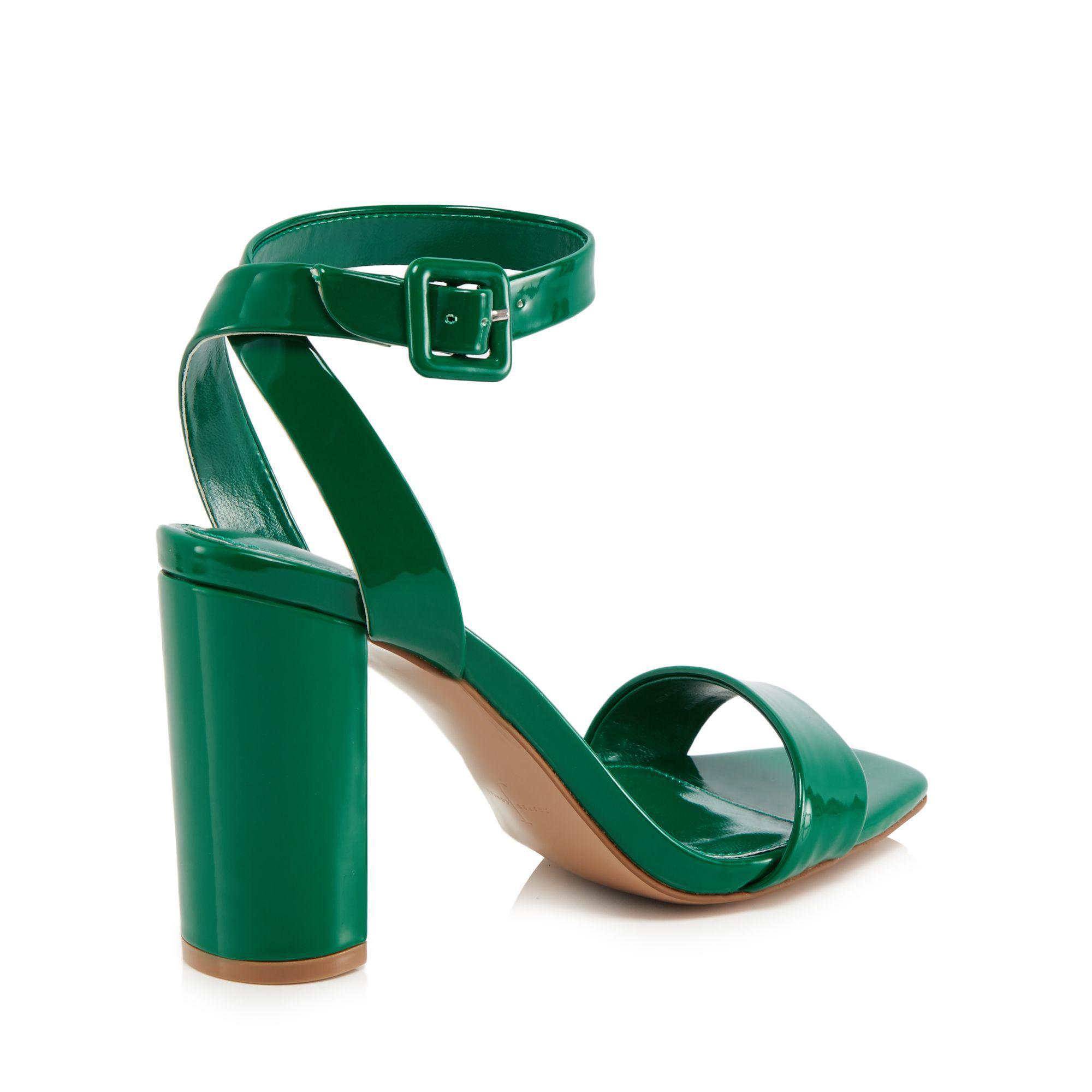 ece94f251165e8 J By Jasper Conran Green Patent  jessica  High Block Heel Ankle ...