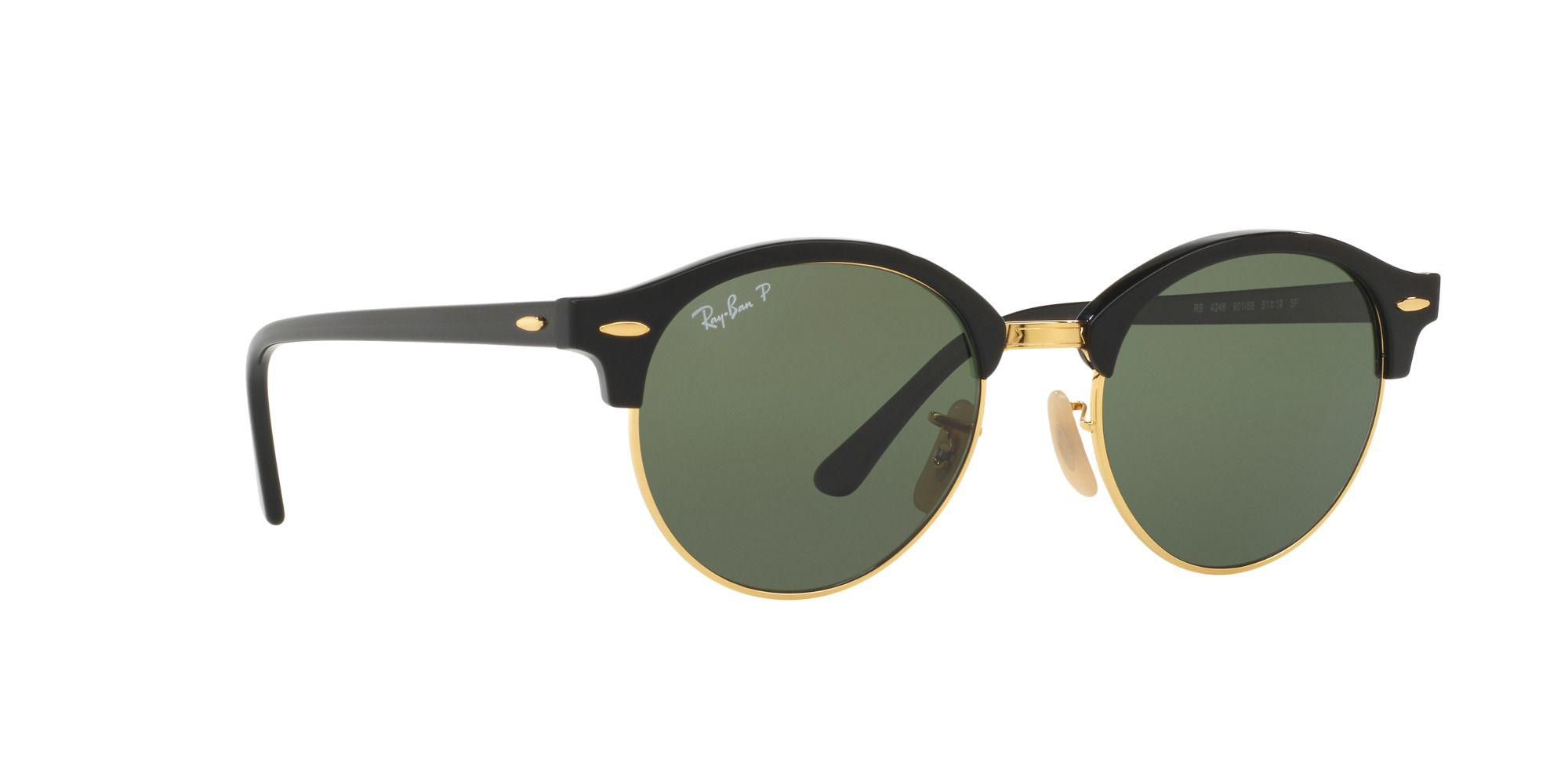6267c06fee Ray-Ban Black  clubround  round Rb4246 Sunglasses in Black for Men ...