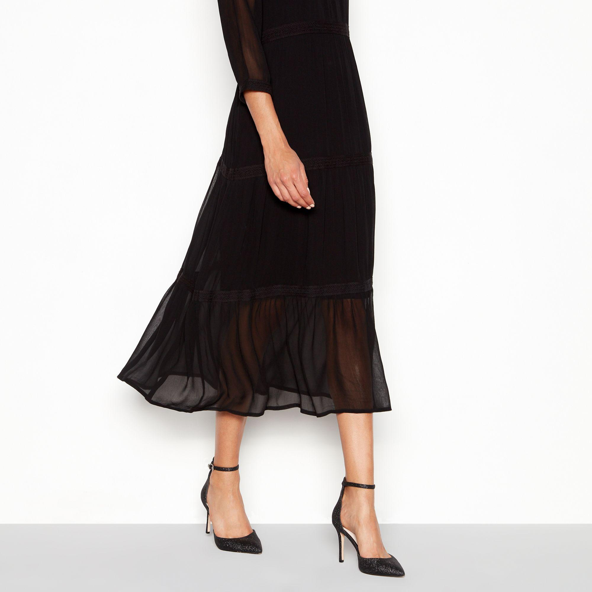 95e3b4648b7b Faith Black Glitter  witter  High Stiletto Heel Wide Fit Pointed ...