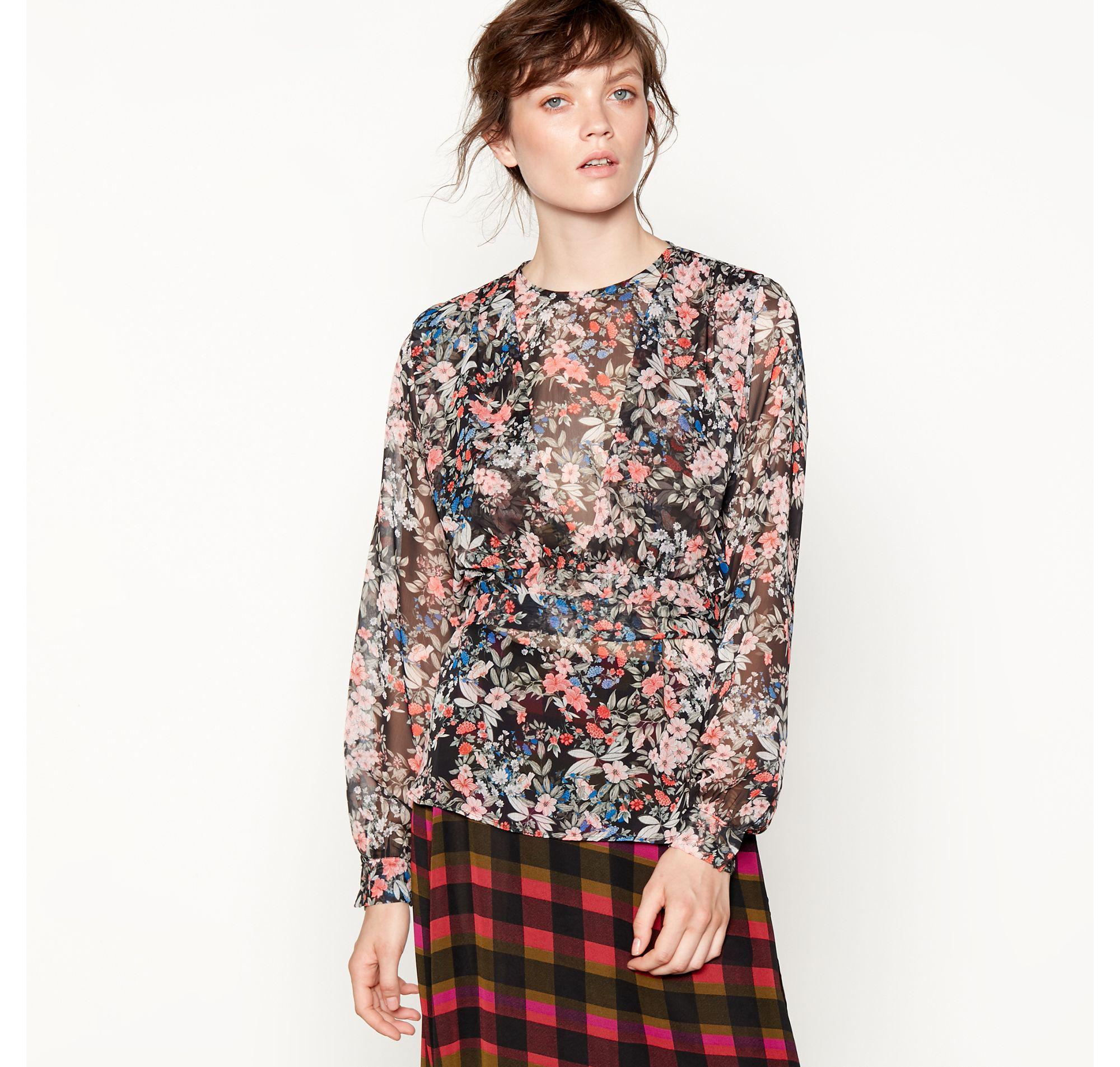 610db17e158454 Preen By Thornton Bregazzi. Women s Black Floral Print Layered Blouse