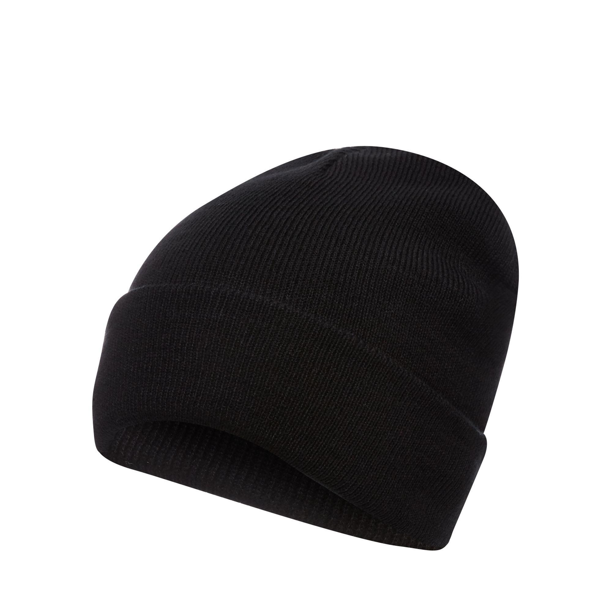 9ad18634b59eb Red Herring Black Plain Beanie Hat in Black for Men - Lyst