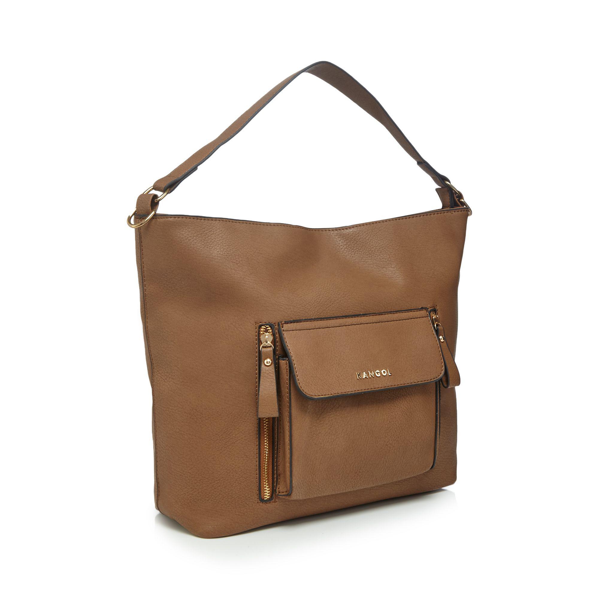 Kangol Tan Large Pocket Shoulder Bag in Brown - Lyst 5795363f7d