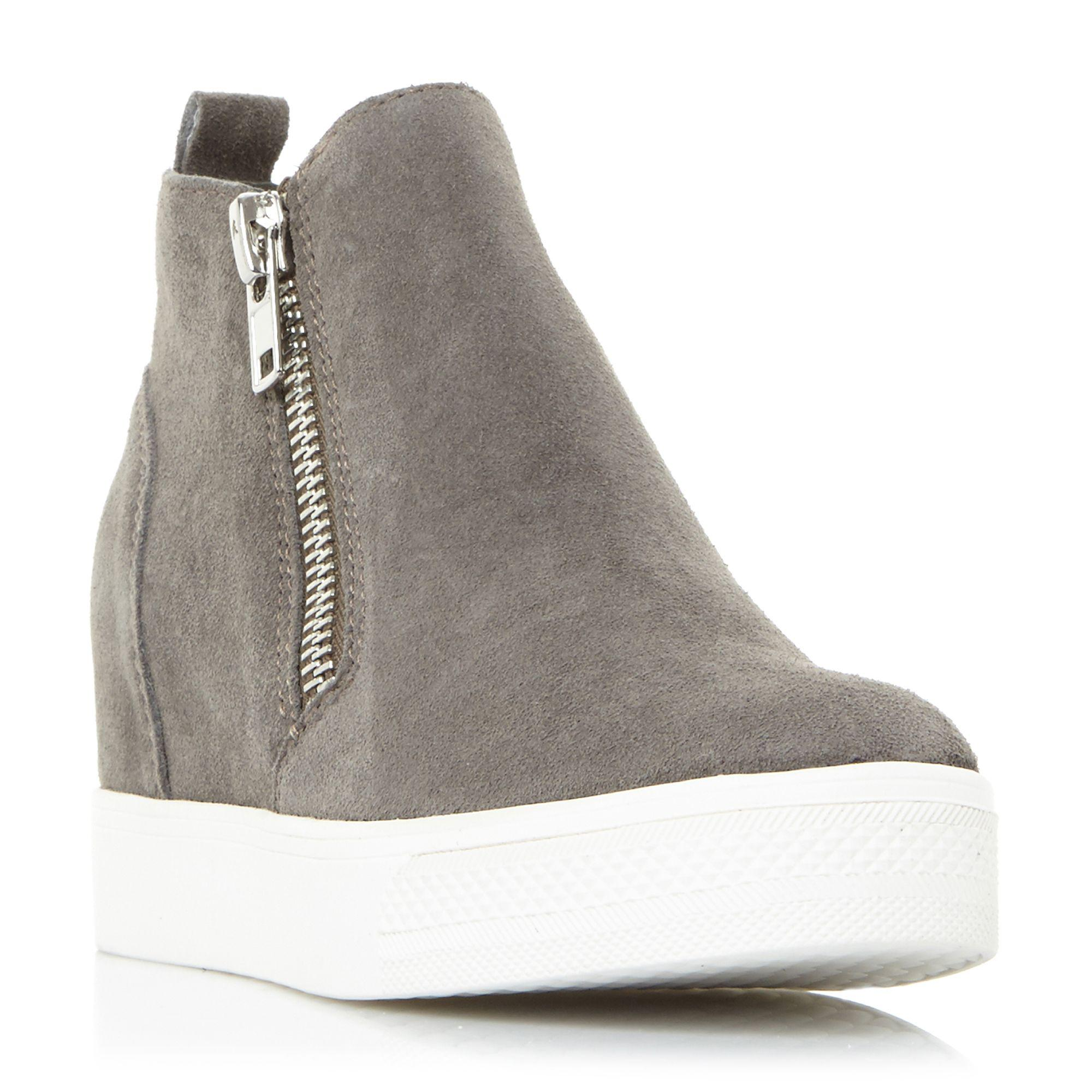 abc7083c949 Steve Madden Grey  wedgie  Platform High Tops Trainers in Gray - Lyst
