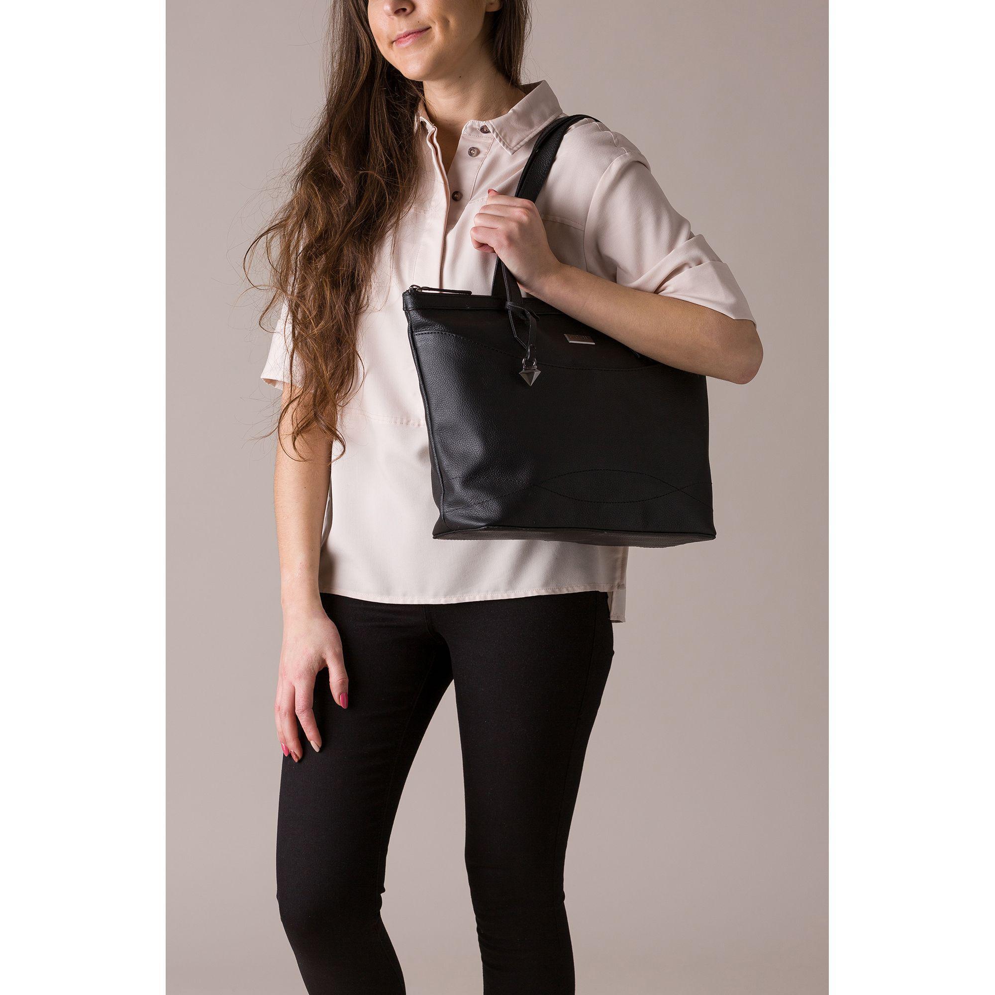 6f72860040ca Cultured London - Black  oriel  Leather Tote Bag - Lyst. View fullscreen